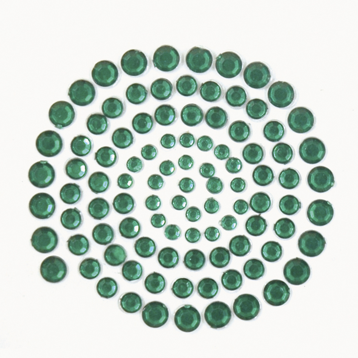 Kaisercraft Adhesive Rhinestones 100/Pkg-Dark Green