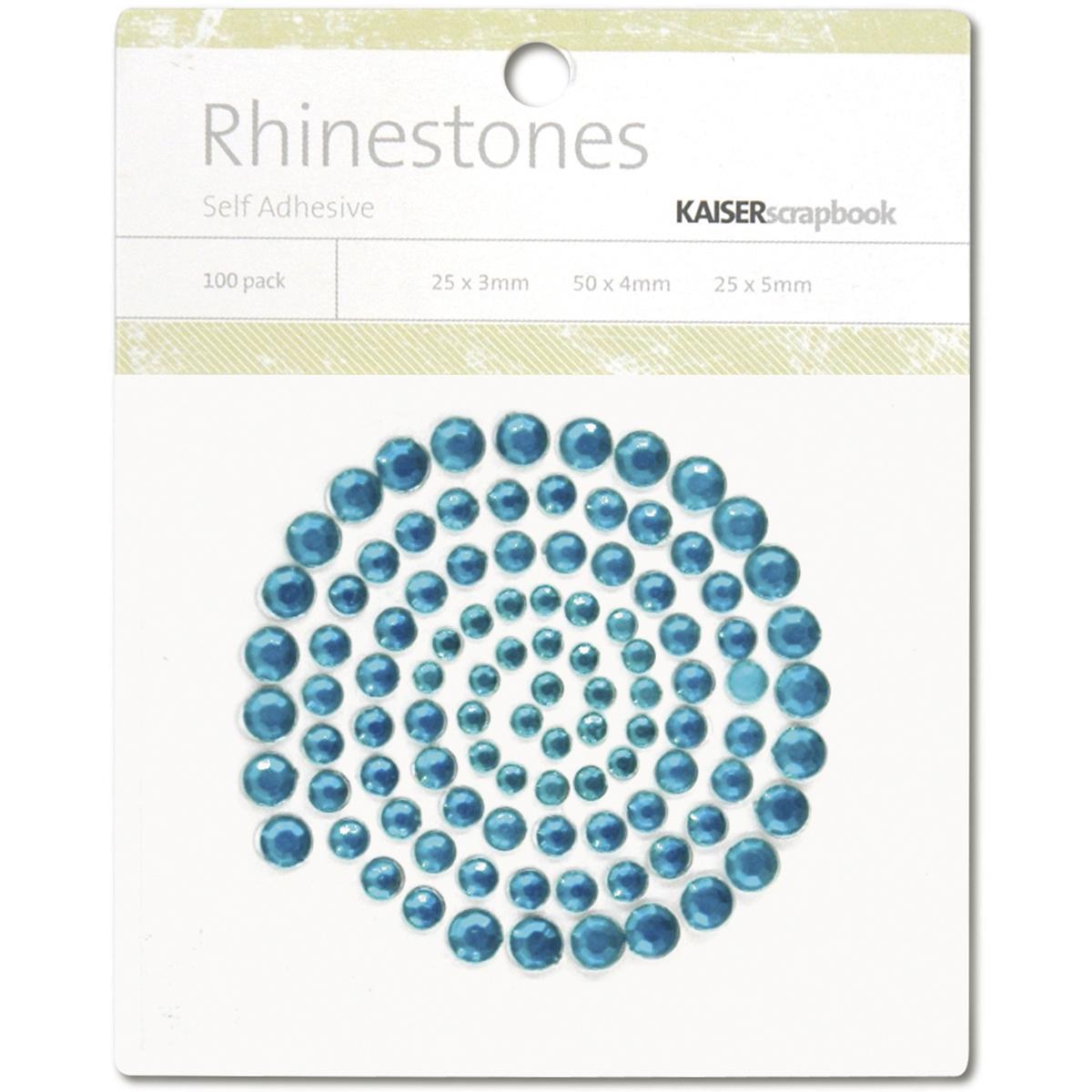 Kaisercraft Adhesive Rhinestones 100/Pkg-Aquamarine
