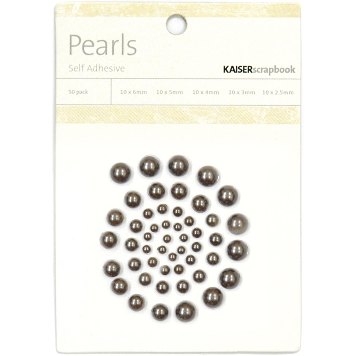 Self-Adhesive Pearls Pewter