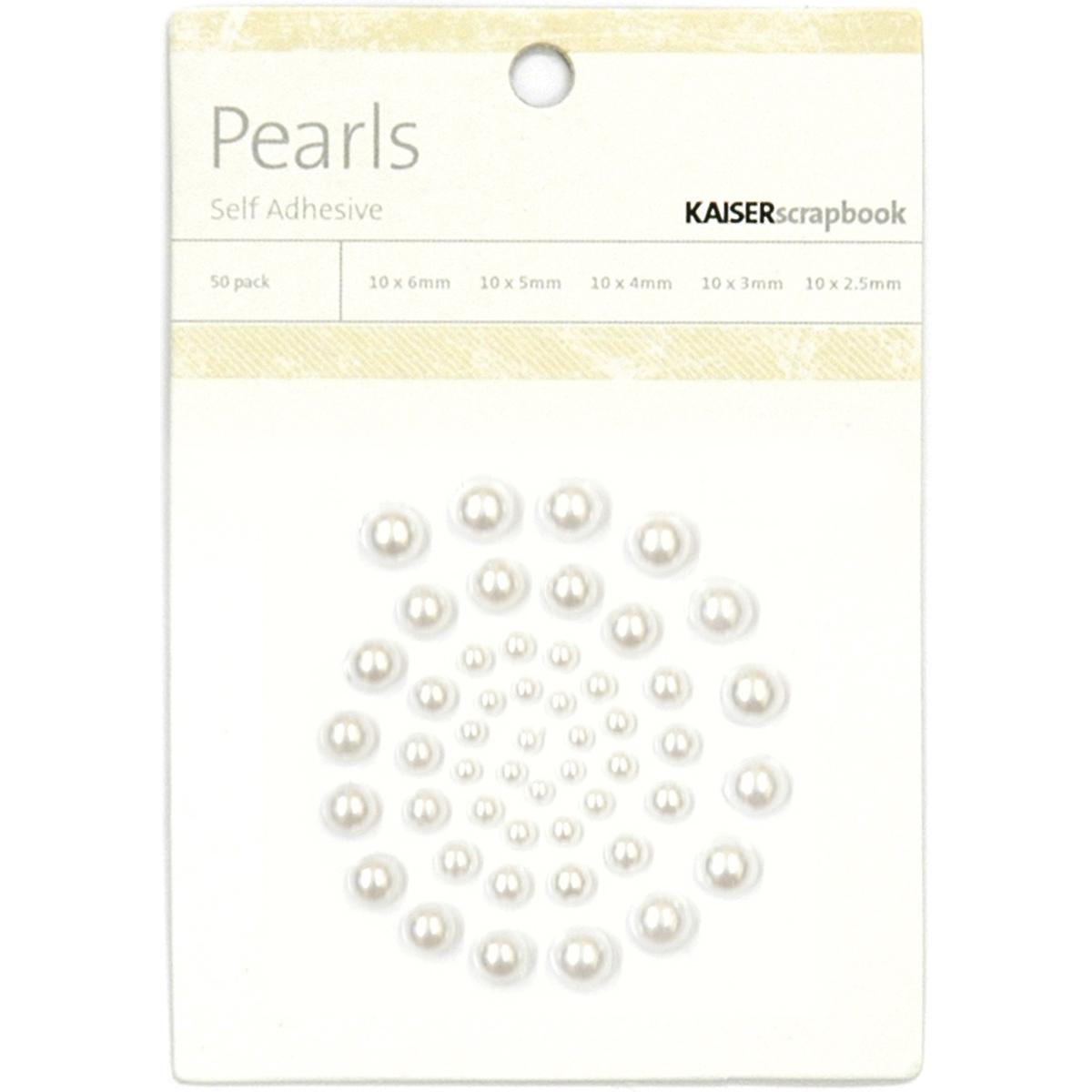 Kaisercraft - Adhesive Pearls - Snow