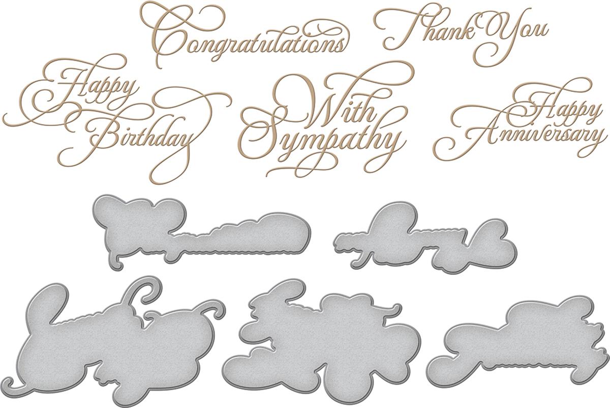 Spellbinders Hot Foil Plate-Elegant Occasion Sentiments