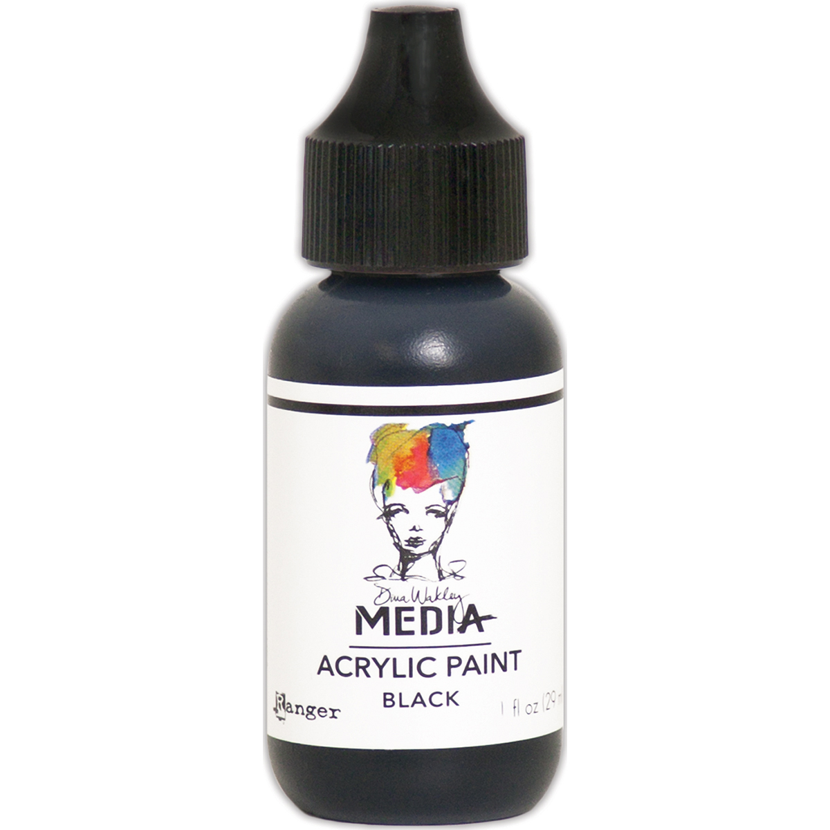 Dina Wakley Media Acrylic Paint 1oz-Black