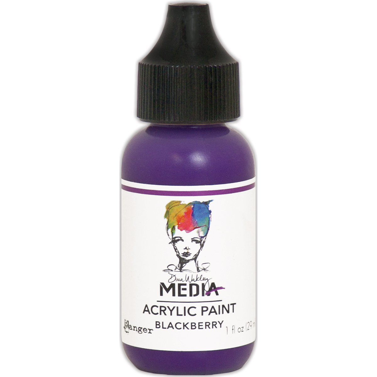 Dina Wakley Media Acrylic Paint 1oz-Blackberry