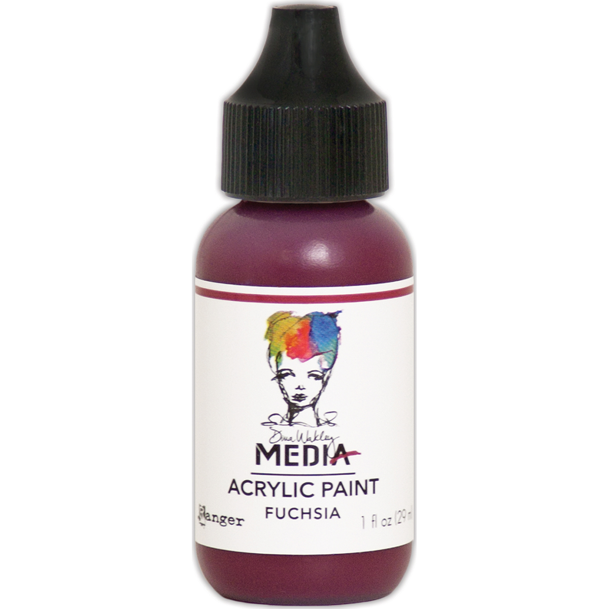 Dina Wakley Media Acrylic Paint 1oz-Fuchsia