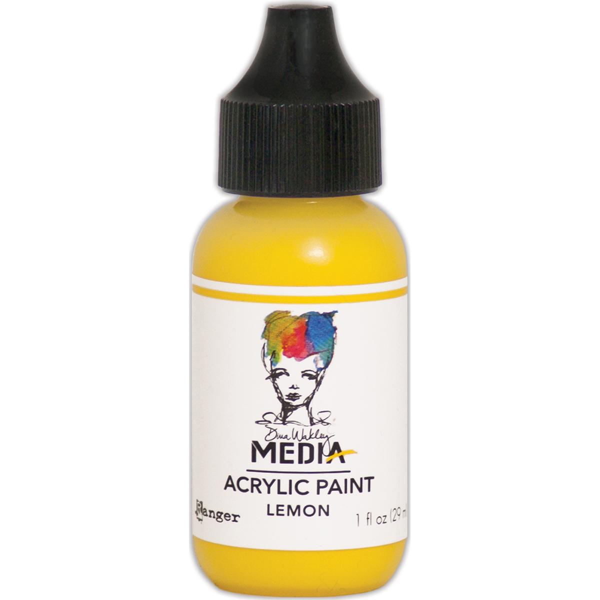 Dina Wakley Media Acrylic Paint 1oz-Lemon