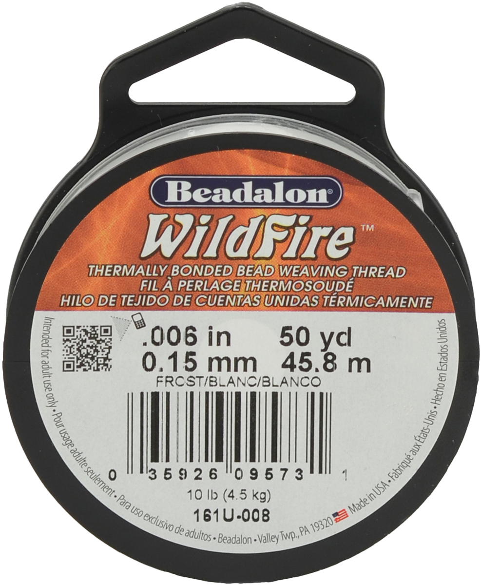 Wildfire Stringing Thread .006X50yd-Frost