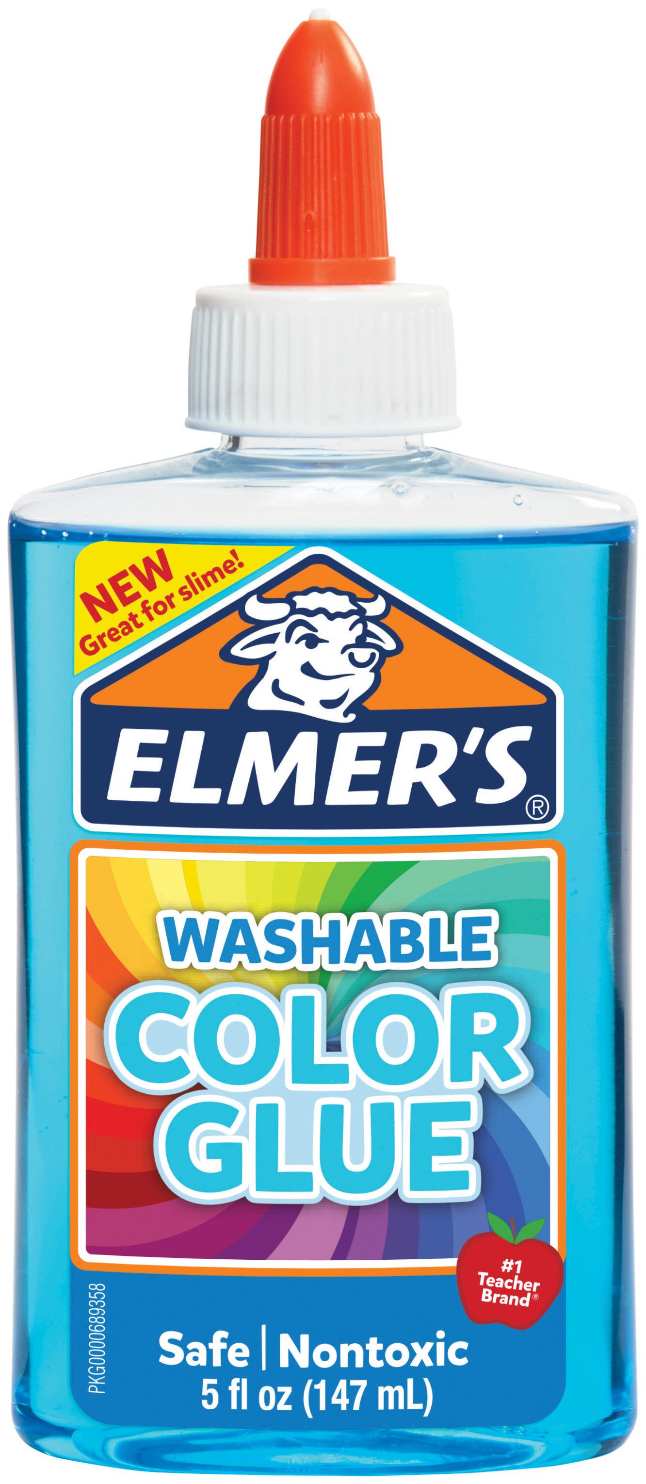 Elmer's Transparent Colored Liquid Glue 5oz-Blue