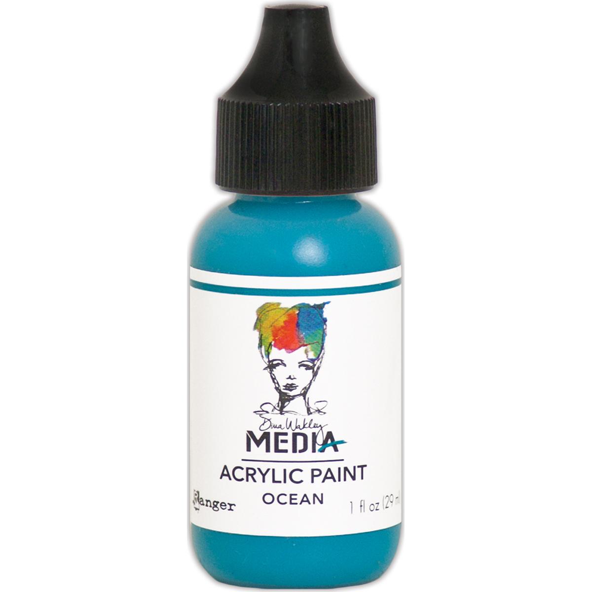 Dina Wakley Media Acrylic Paint 1oz-Ocean