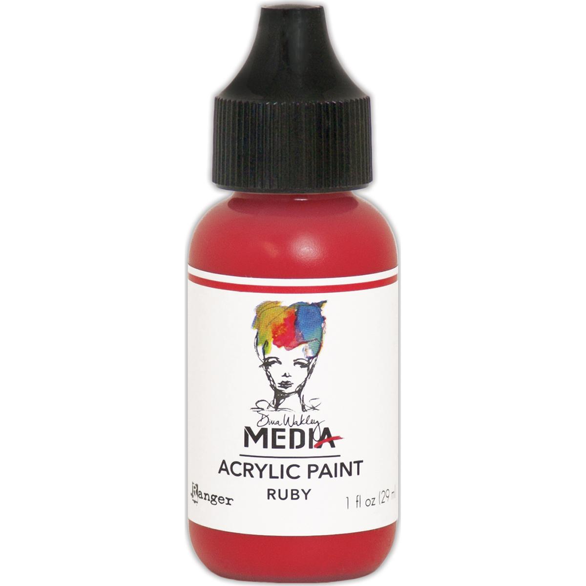Dina Wakley Media Acrylic Paint 1oz-Ruby