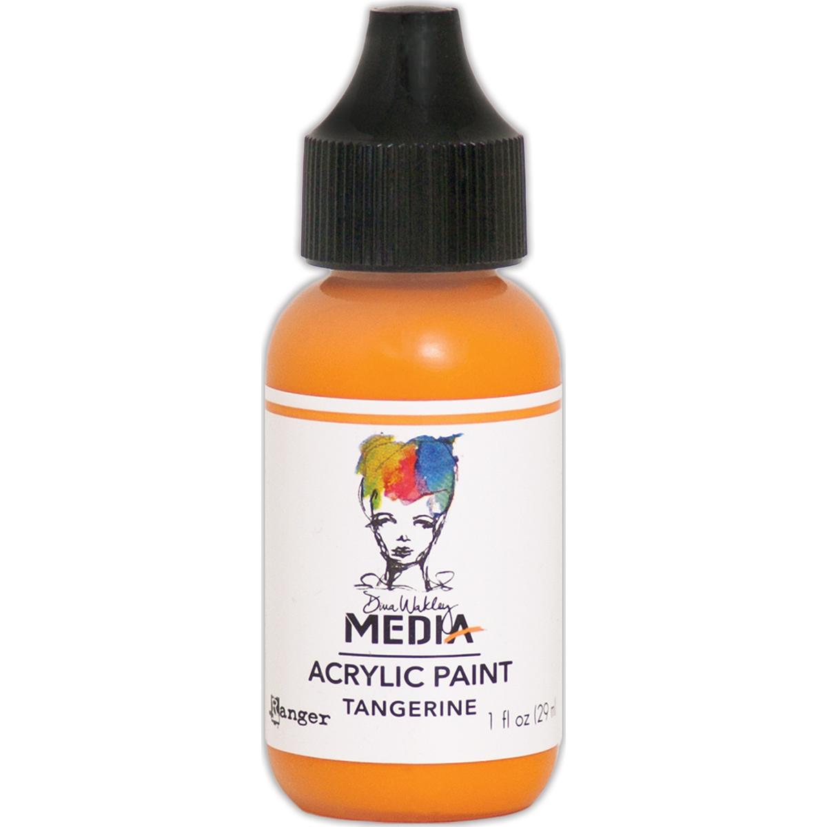 Dina Wakley Media Acrylic Paint 1oz-Tangerine
