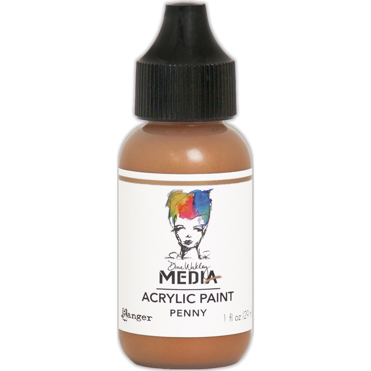 Dina Wakley Media Metallic Acrylic Paint 1oz-Penny
