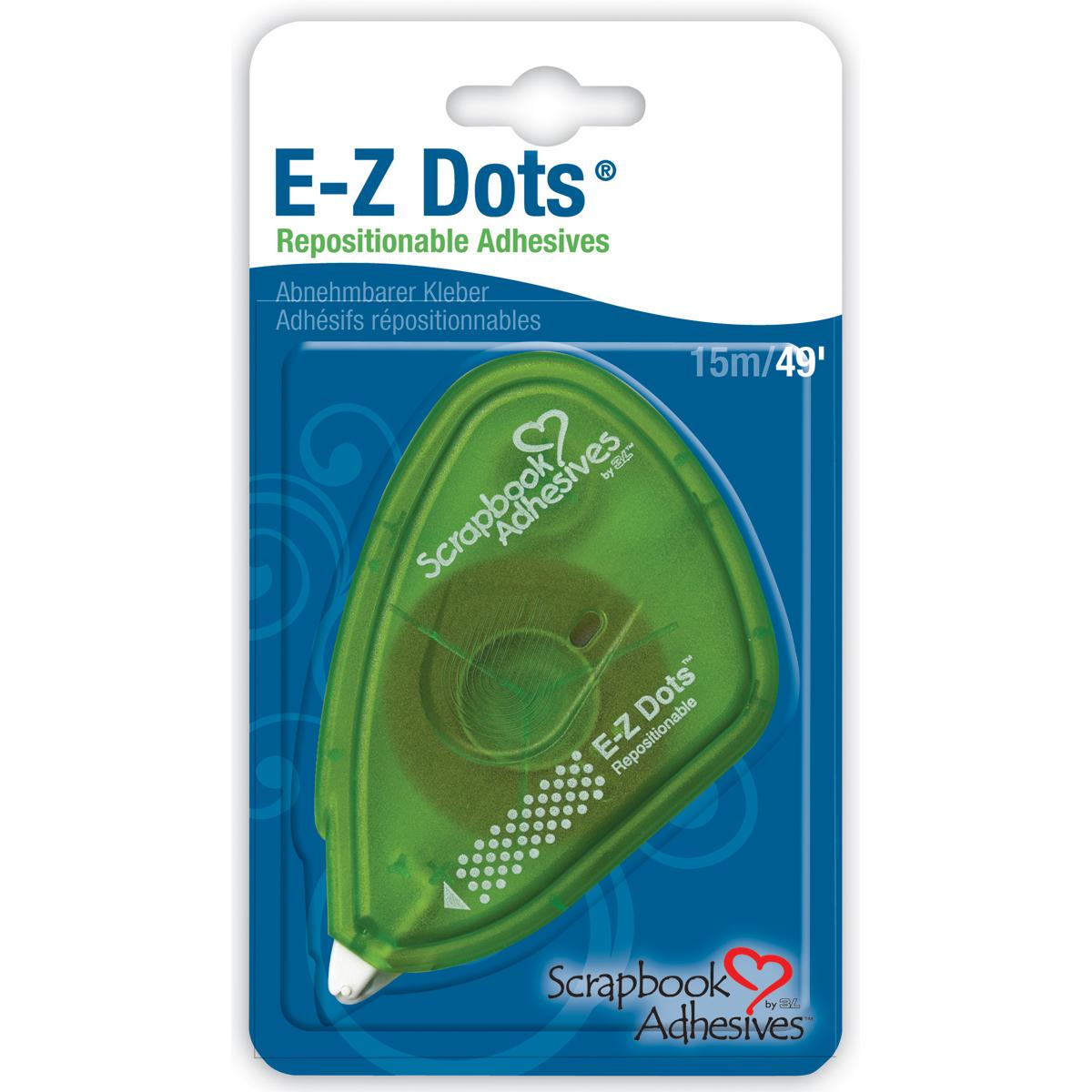 Scrapbook Adhesives E-Z Dots Dispenser-Repositionable, .375X49'