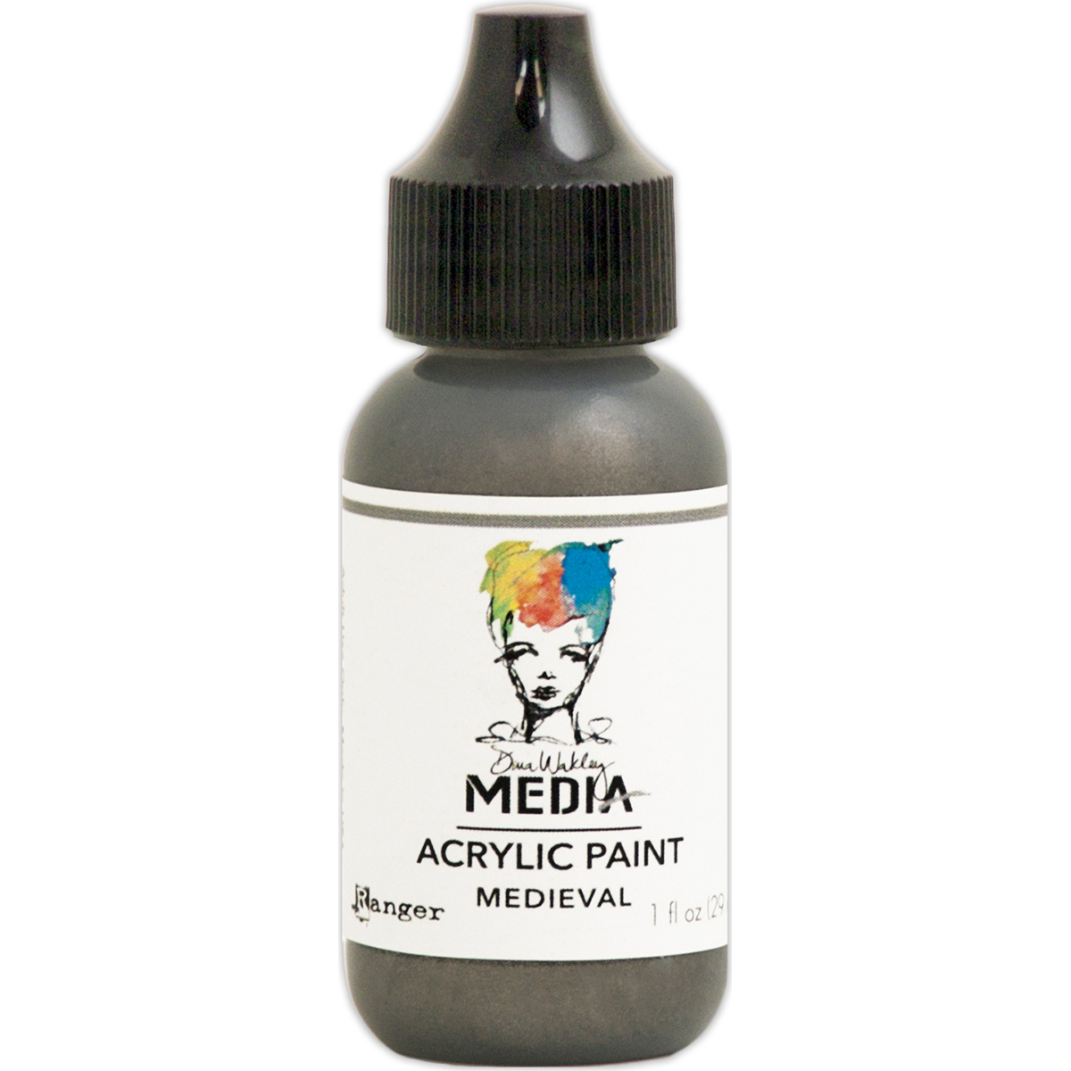 Dina Wakley Media Metallic Acrylic Paint 1oz-Medieval