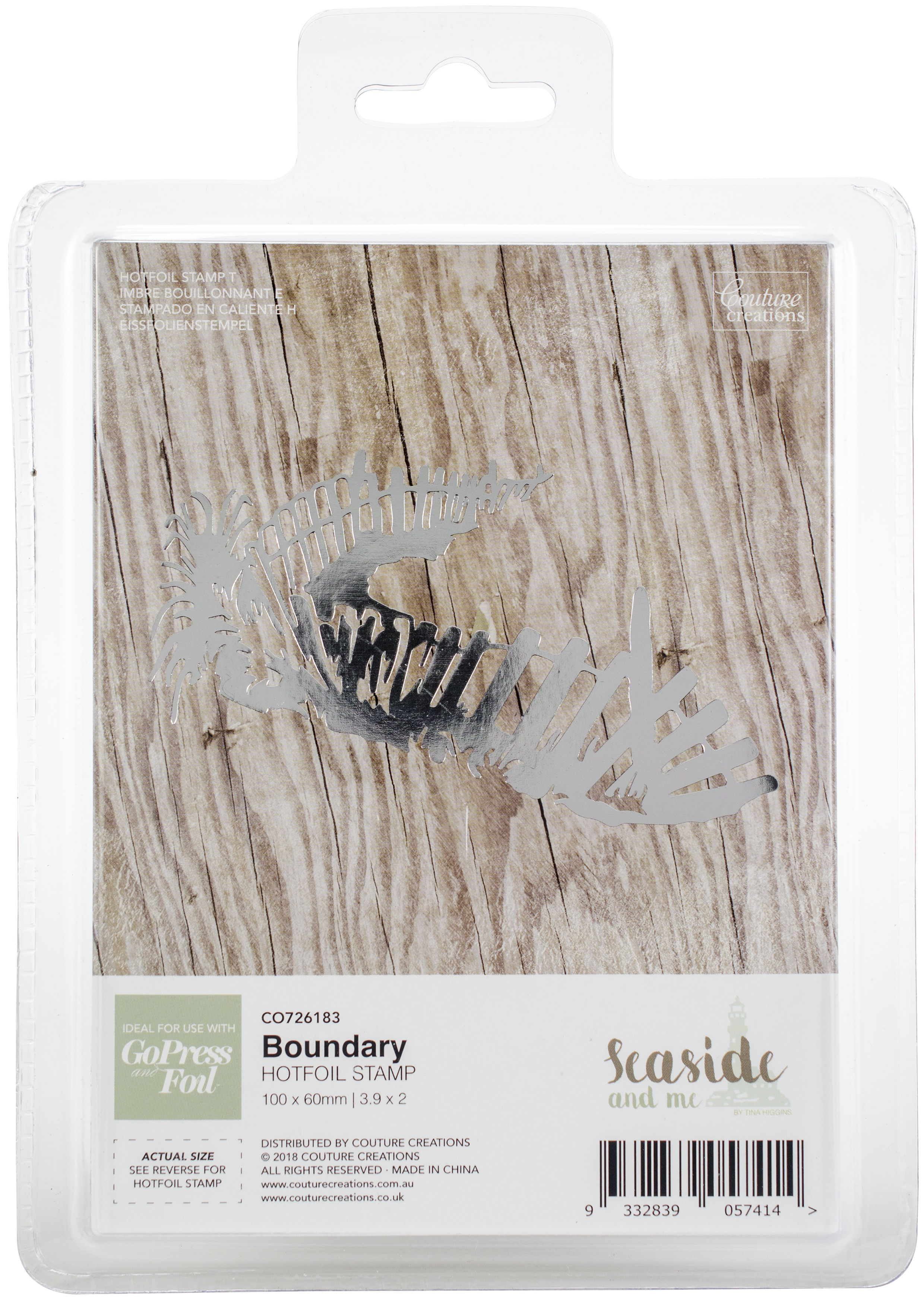 Couture Creations - Hot Foil Stamp - Boundary
