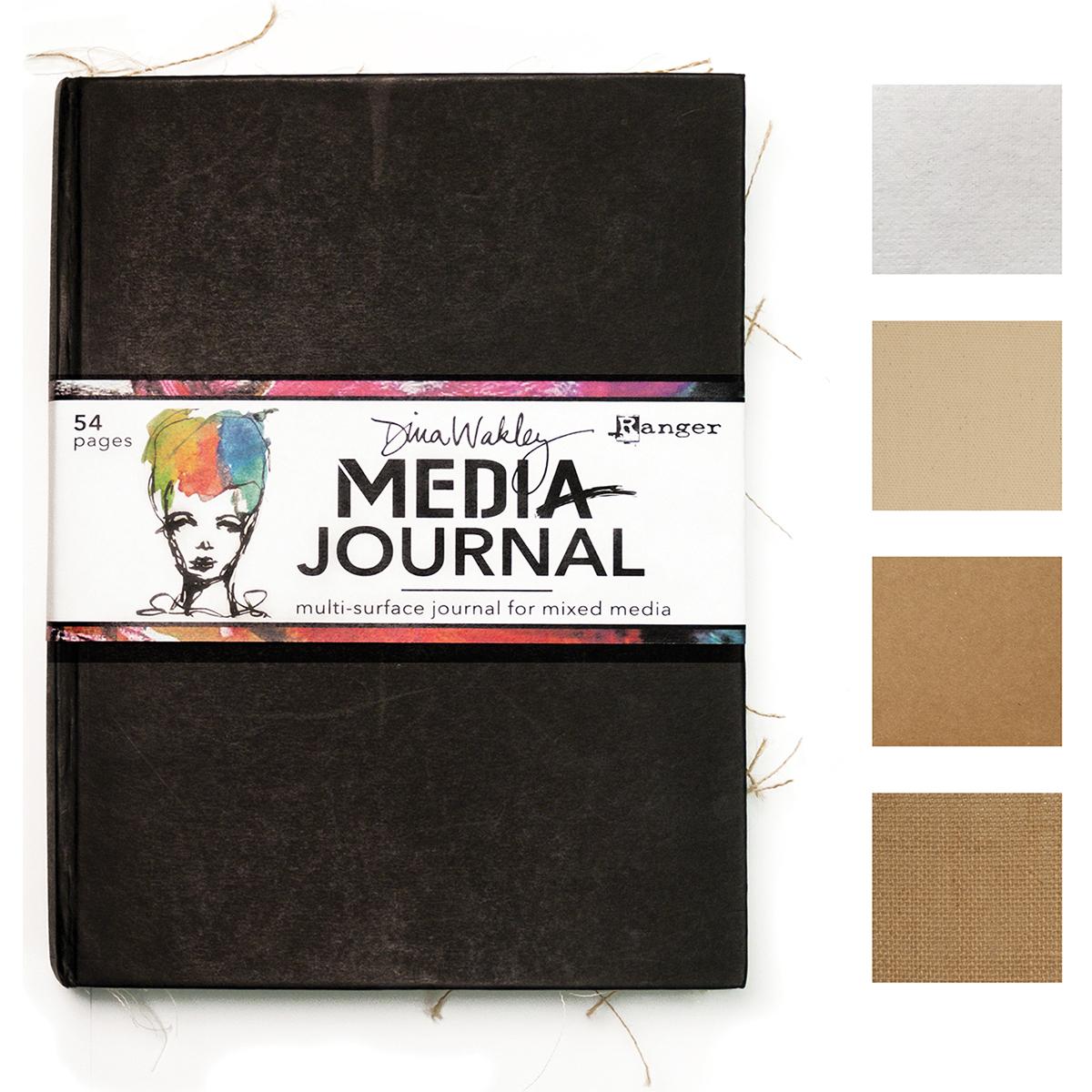 Dina Wakley Media Journal 8X10-Black