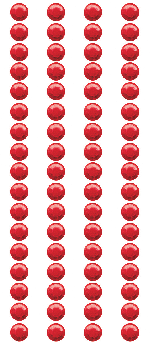 Mark Richards Crystal Stickers Elements 5mm Round 68/Pkg-Red