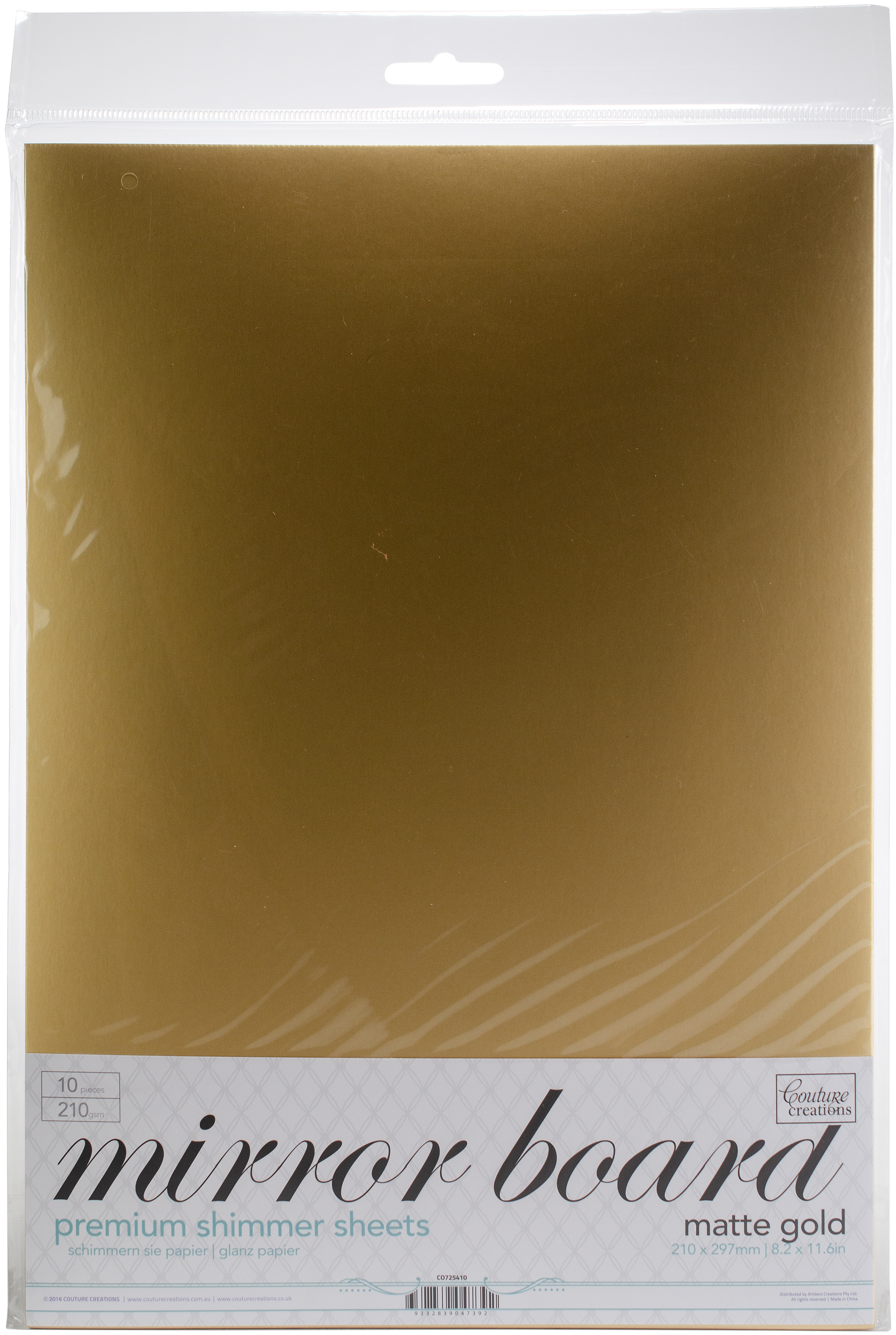Mirror Foil Board Gold Matte