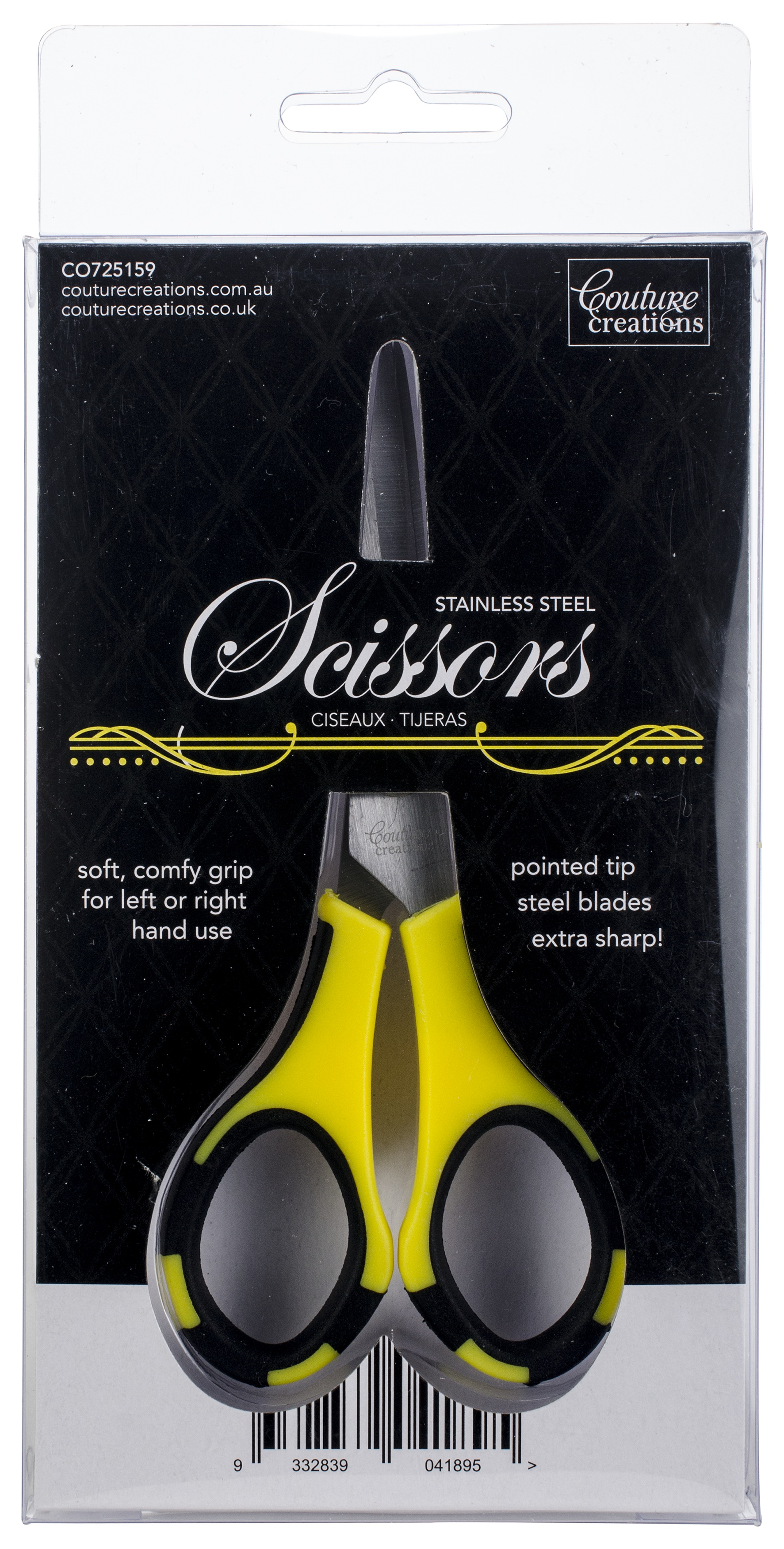 Couture Creations Teflon Scissors 5.5-W/Stainless Steel Blades