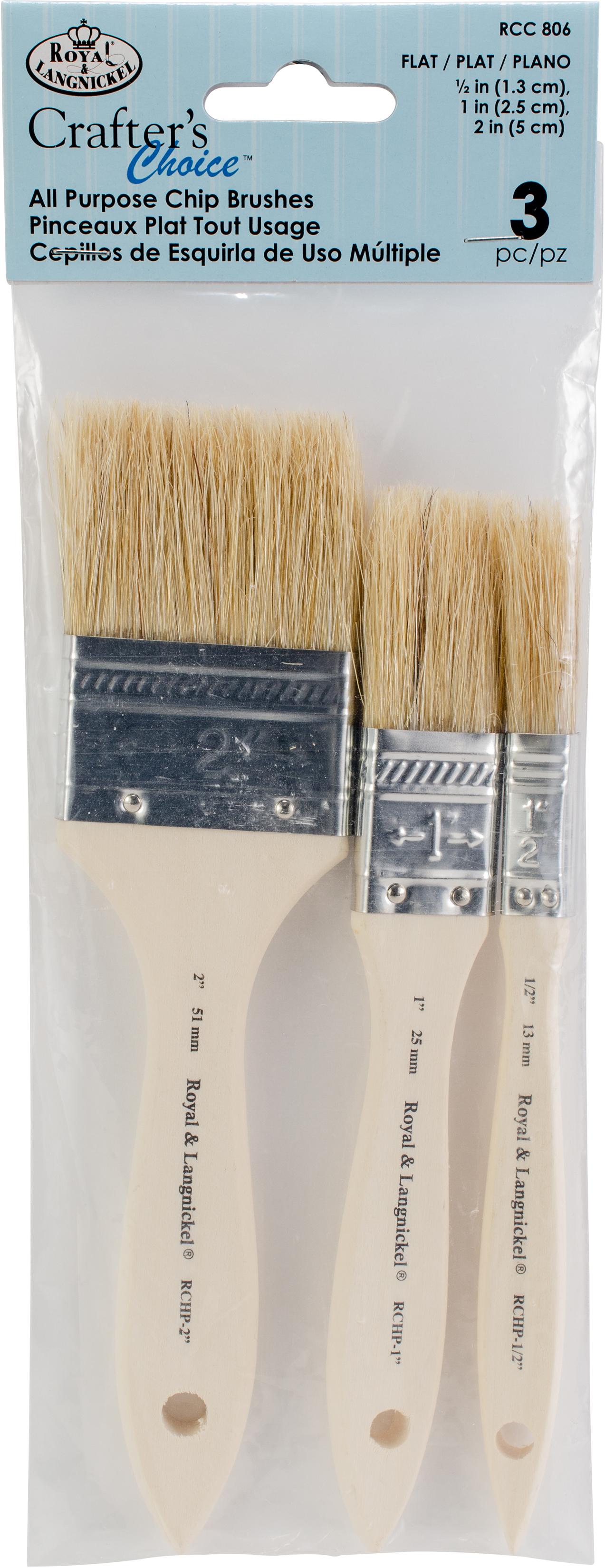 Crafter's Choice Chip Brush Set-3/Pkg