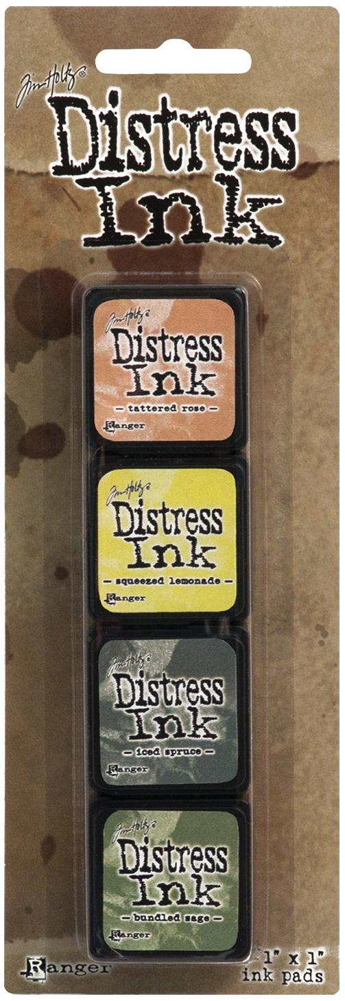 Tim Holtz Distress Mini Ink Pads 4/Pkg-Kit 10