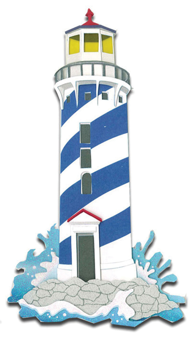 Jolee's Le Grande Dimensional Stickers-Lighthouses