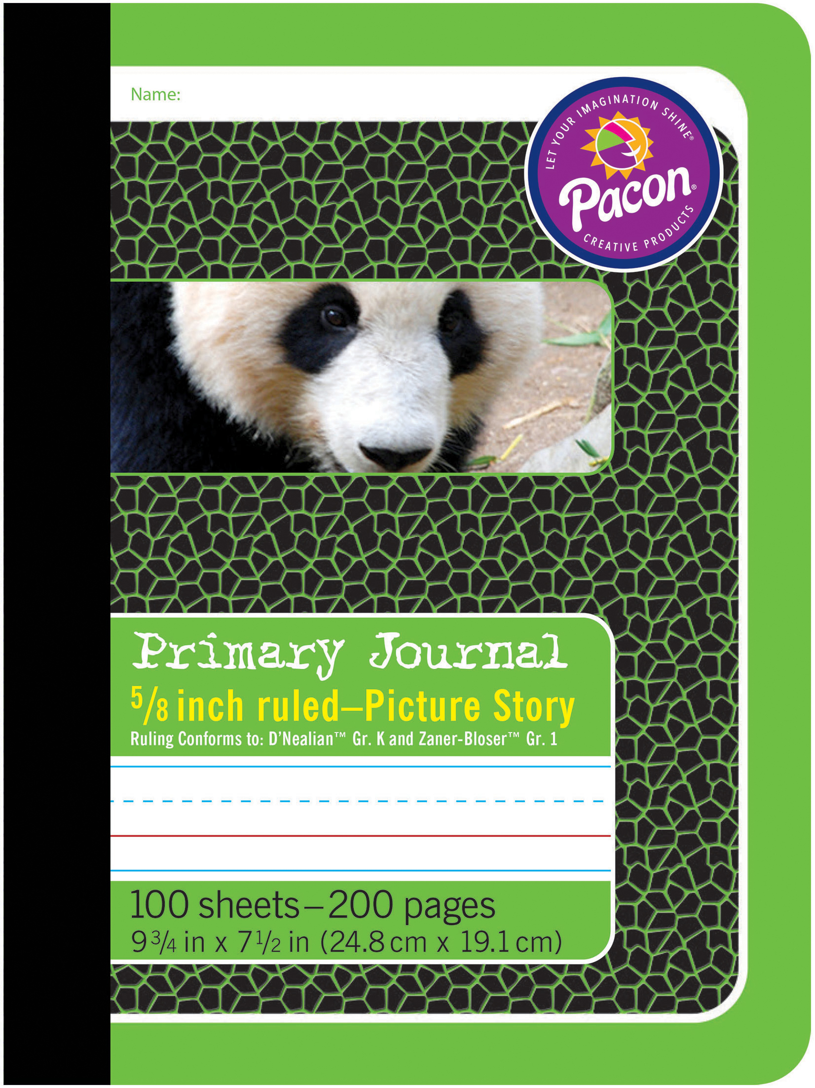 Pacon Composition Books 9.75X7.5 100 Sheets-Green, .625 Ruled
