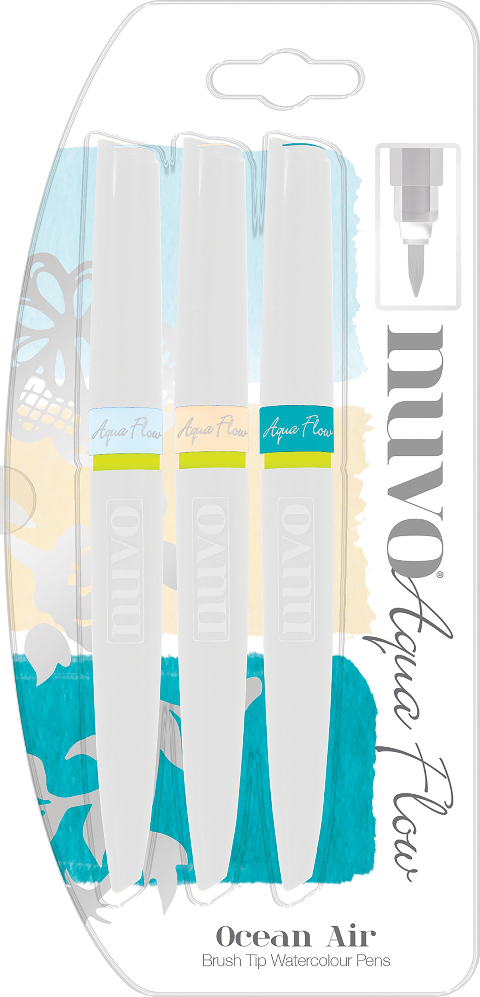 Nuvo Aqua Flow Pens 3/Pkg-Ocean Air