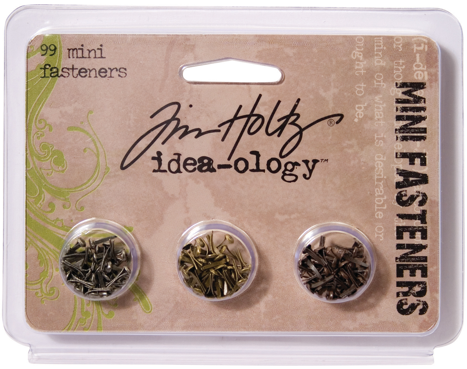 Idea-Ology Metal Screw-Top Paper Fasteners .25 99/Pkg-Antique Nickel, Brass & C...