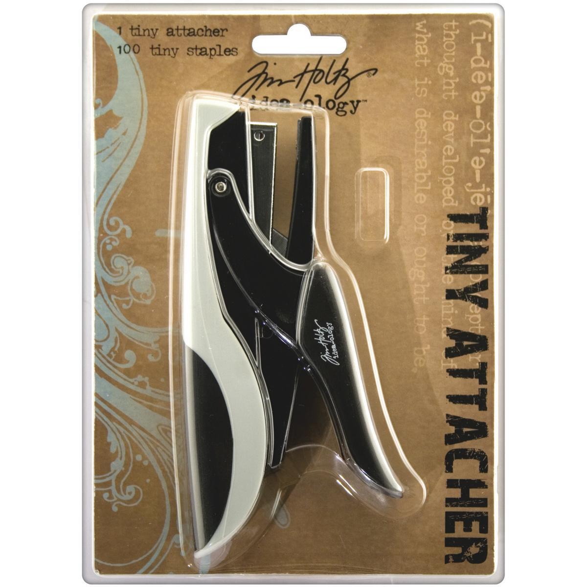 Idea-Ology Tiny Attacher Stapler W/(100) .25 Staples-