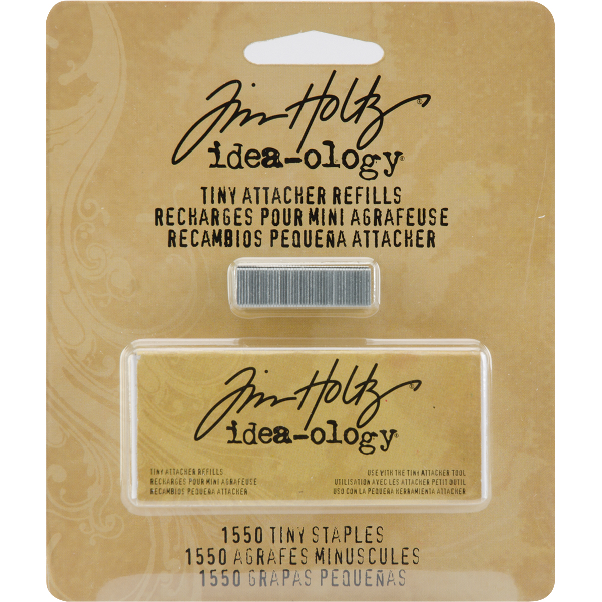 Idea-Ology Tiny Attacher Refill Staples .25 1,550/Pkg-