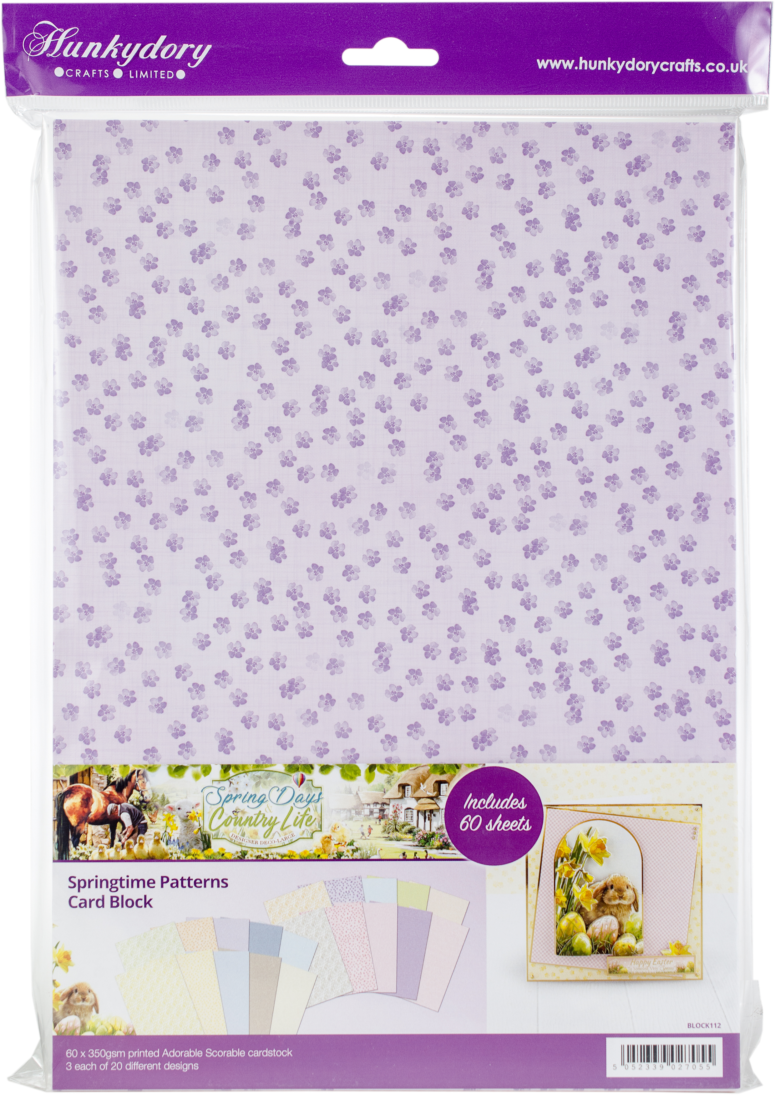 Springtime Patterns Card Block
