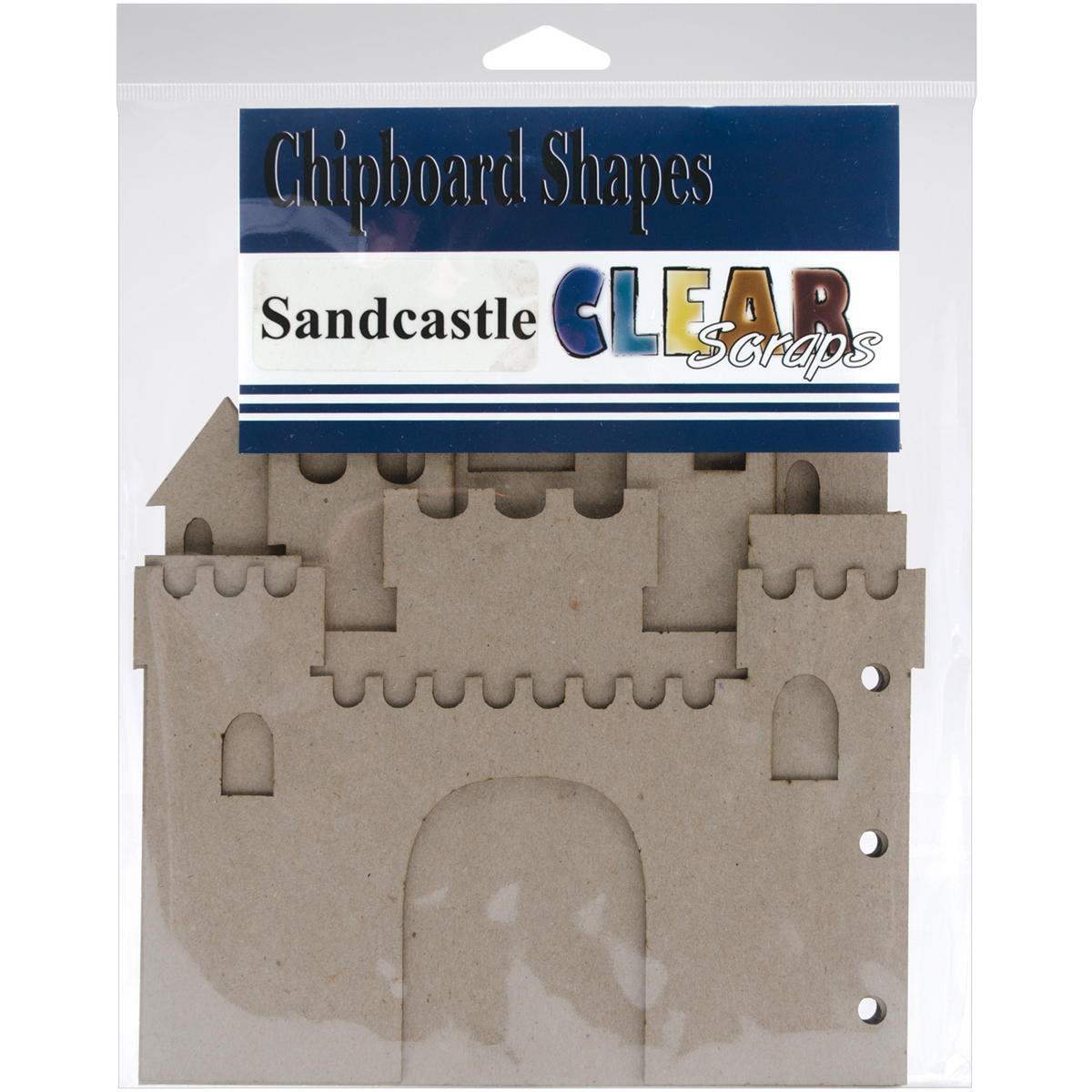 Clear Scraps Sandcastle Chipboard Album 7X9-W/5 Pages & No Rings