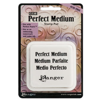Ranger Perfect Medium Stamp Pad 3X3-Clear