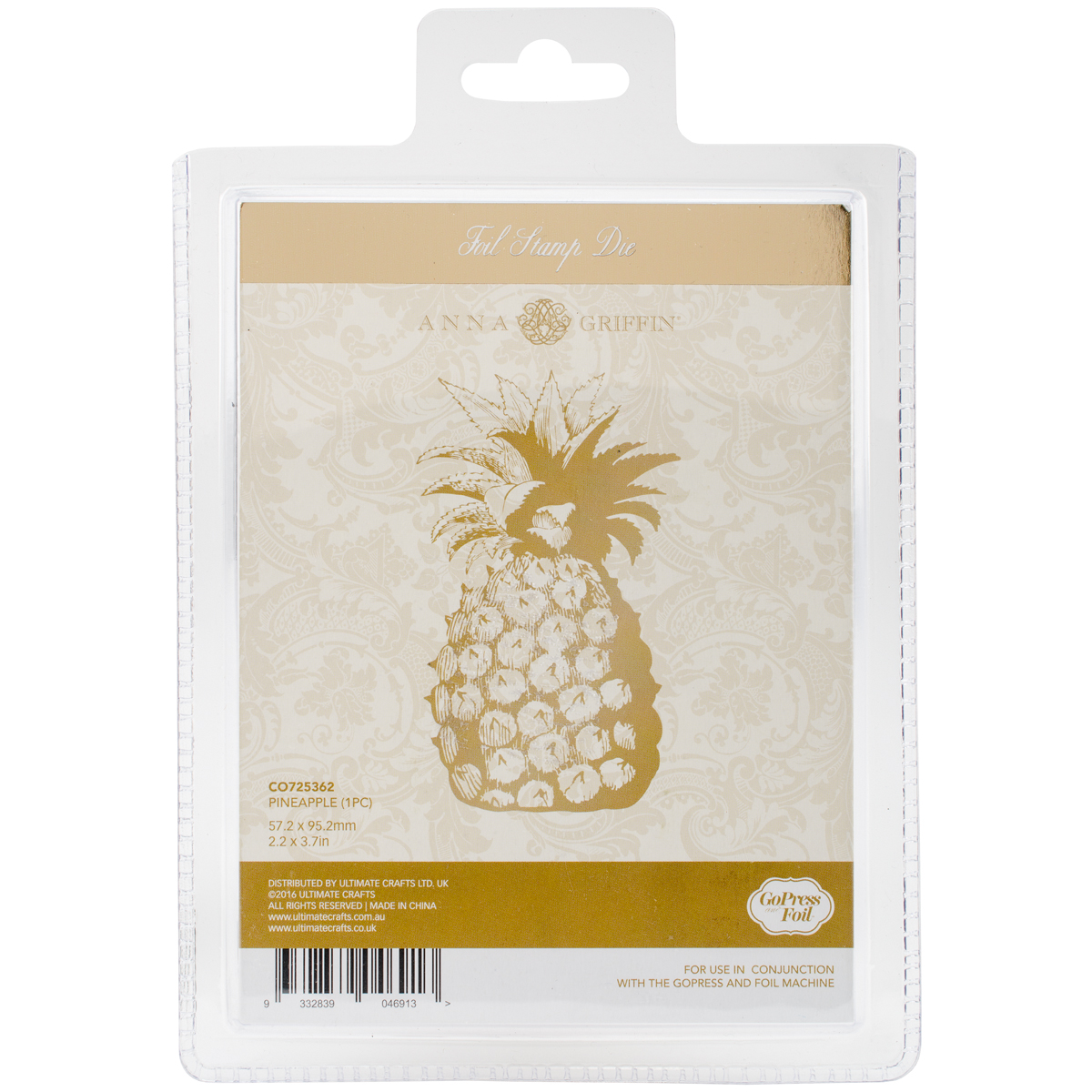 Couture Creations - Hot Foil Stamp - Pineapple