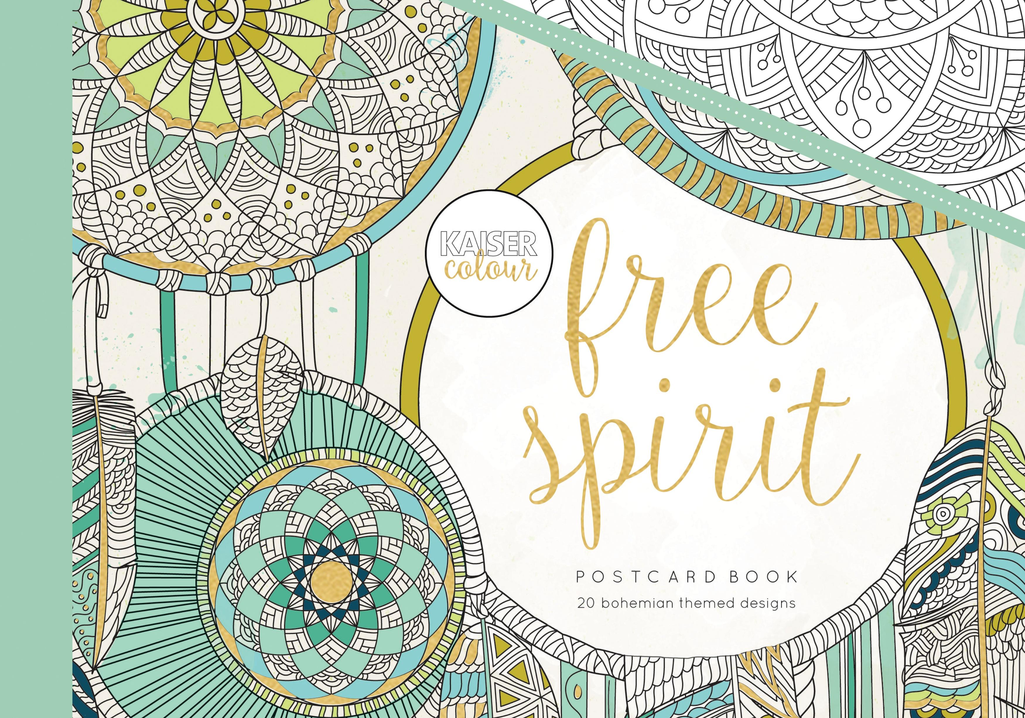 KaiserColour Postcard Book-Free Spirit