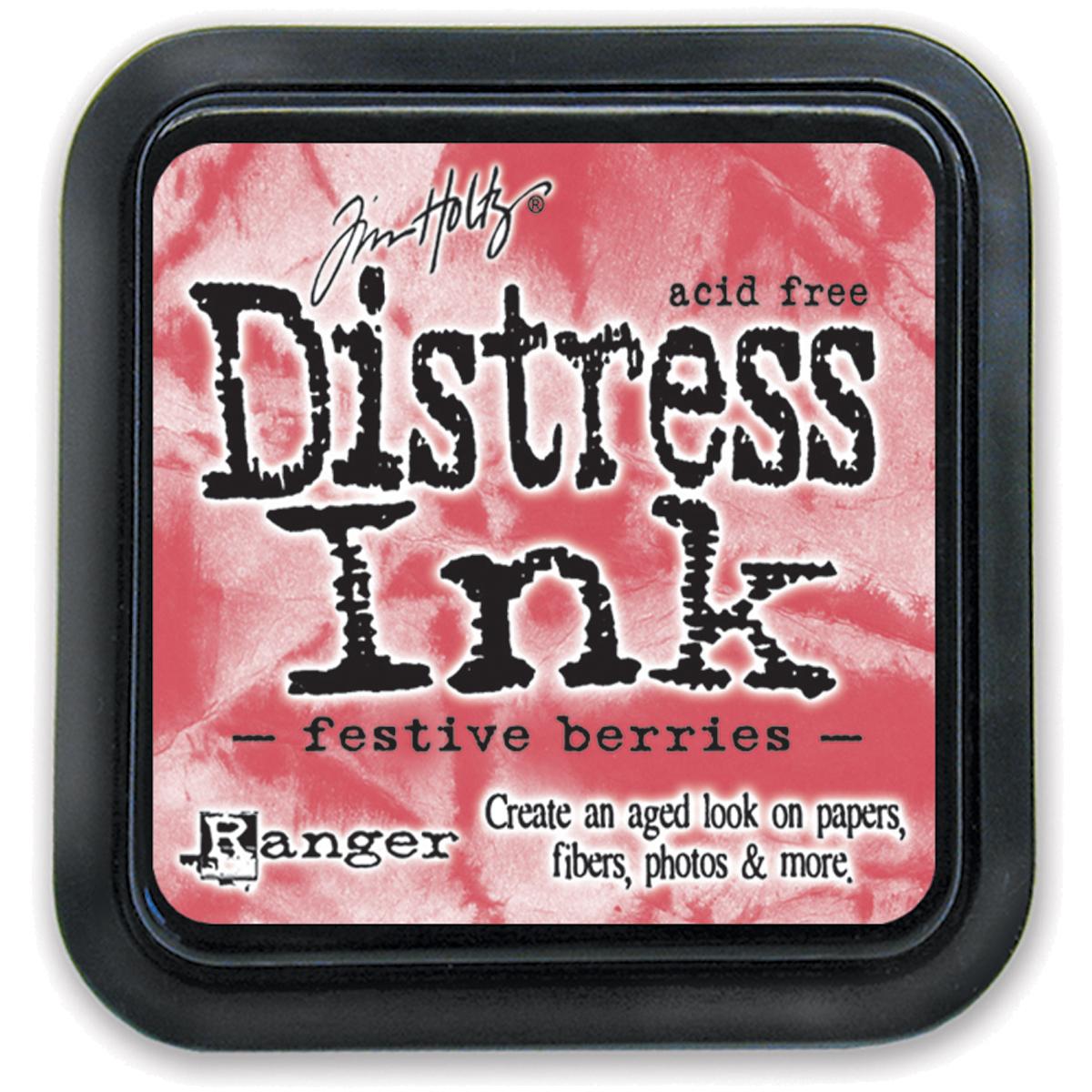 Tim Holtz Distress Ink Pad-Festive Berries