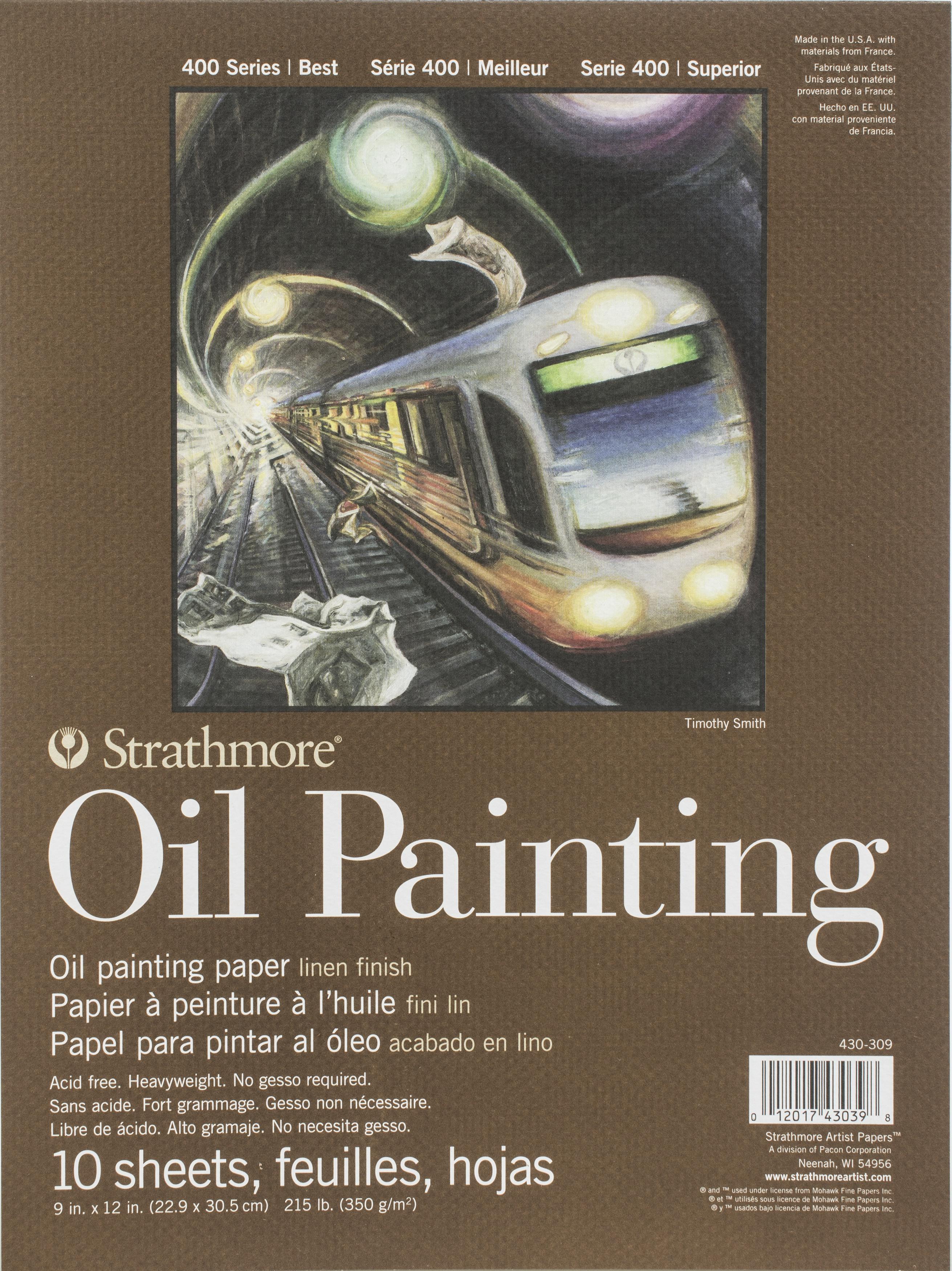 OIL 400 PAD 9X12 10 SHEETS