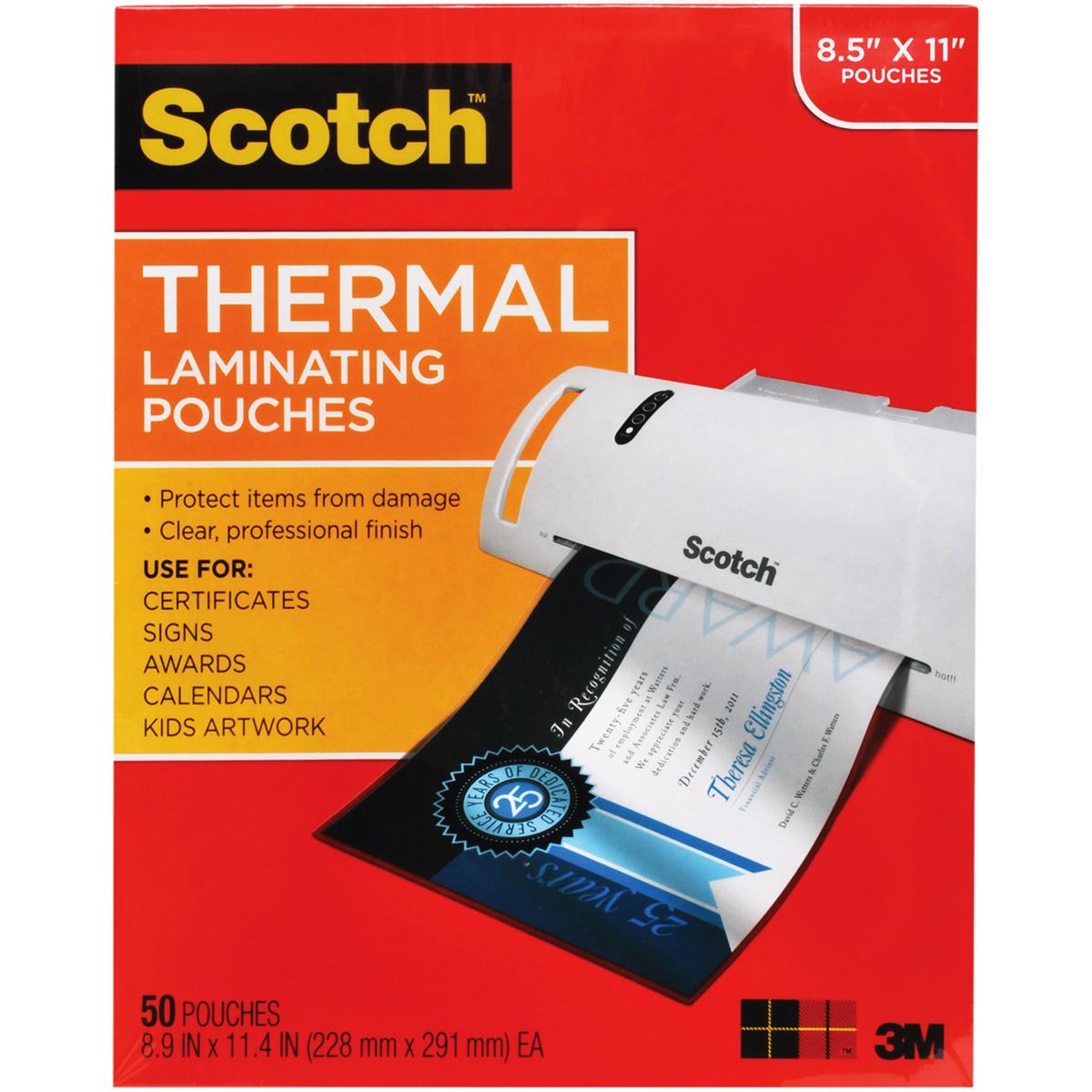 Scotch Laminating Pouches 8.5x11 50pc