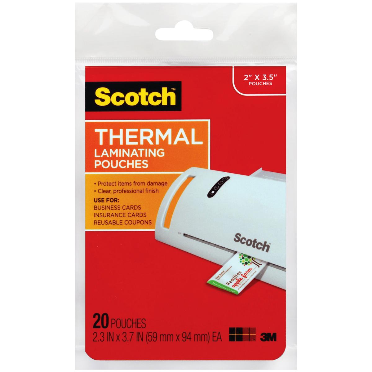 Scotch Laminating Business Card Pouches - 20pc