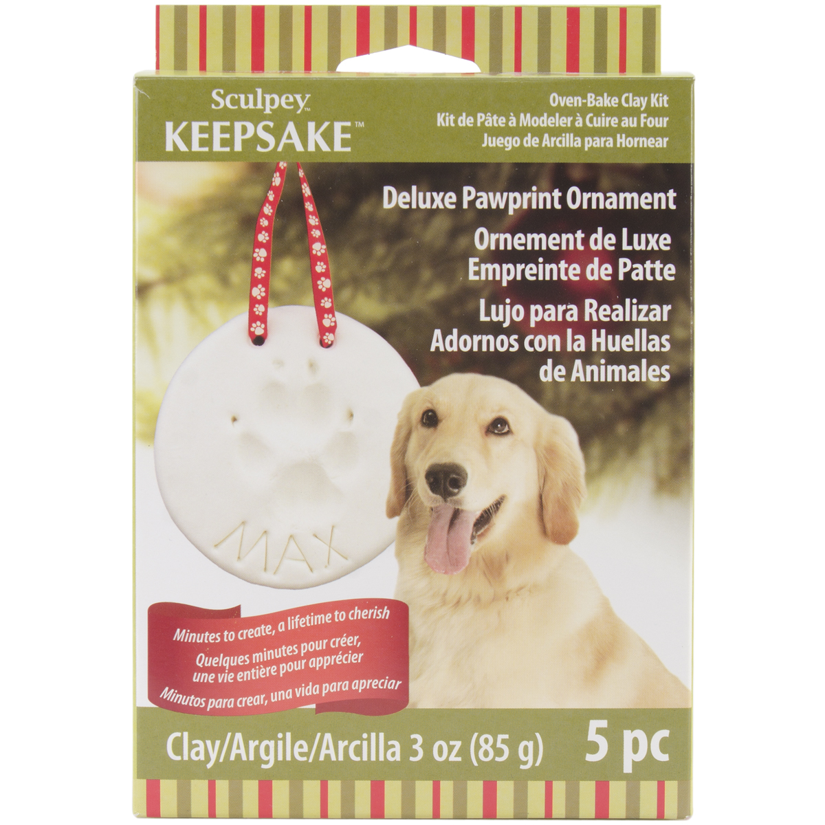 Sculpey Keepsake Kit-Pawprint Ornament