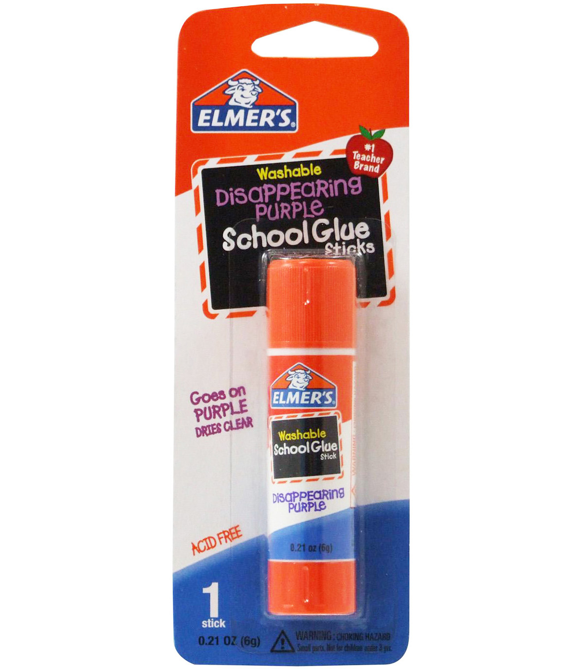 Elmer's Washable School Glue Stick - Purple-.21oz