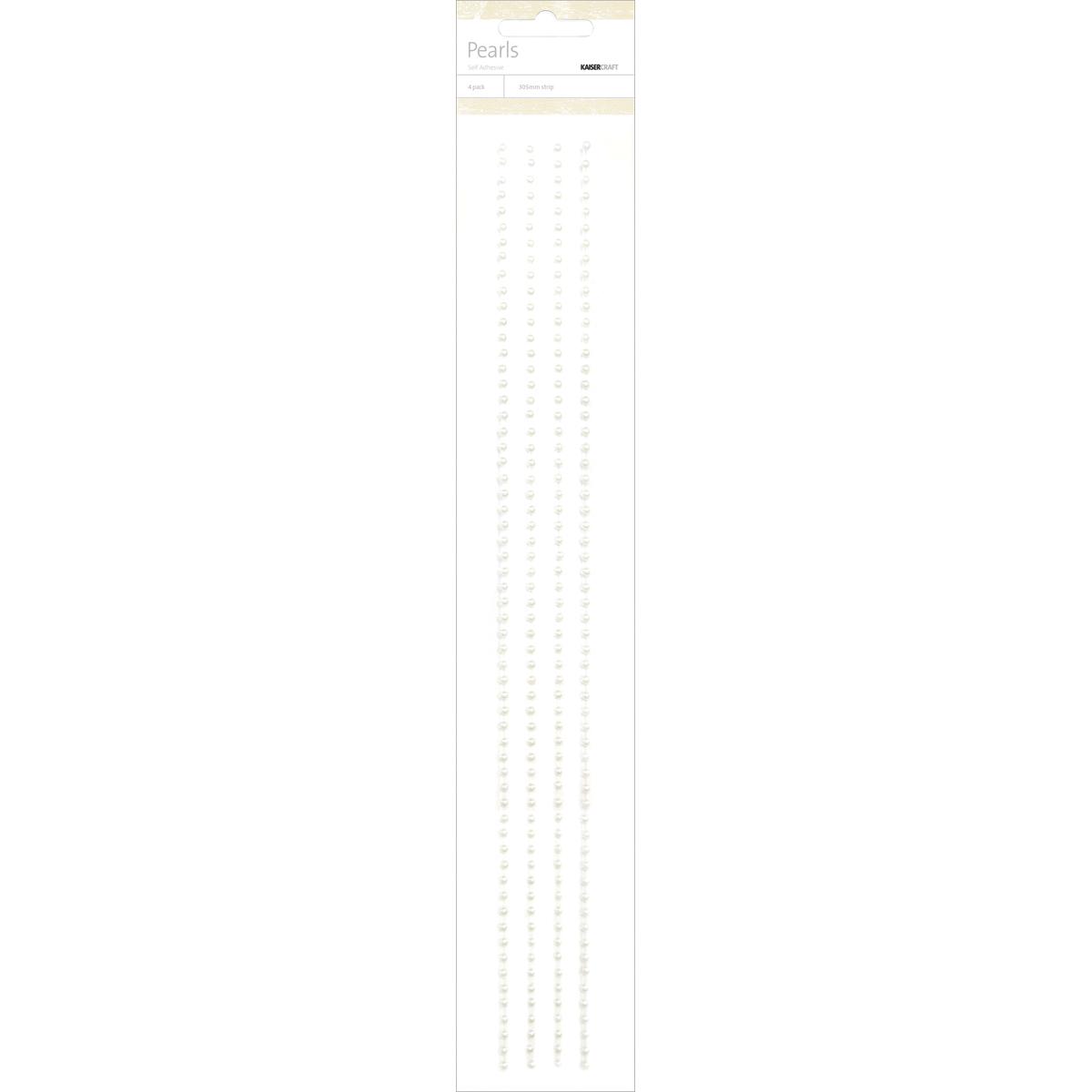 Kaisercraft Adhesive 3mm Pearl Strips 12 4/Pkg-White