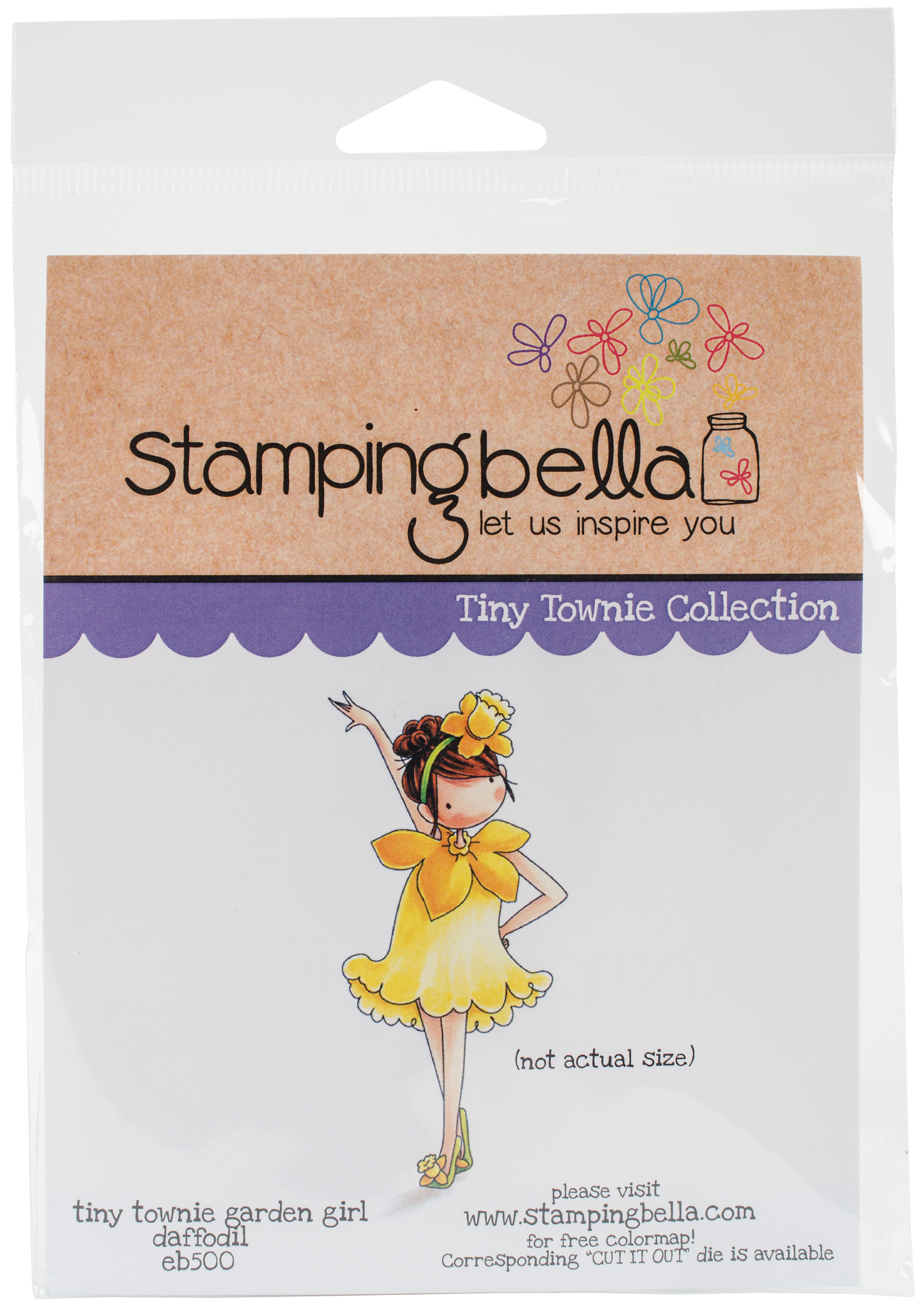Stamping Bella Cling Stamps-Garden Girl Daffodil