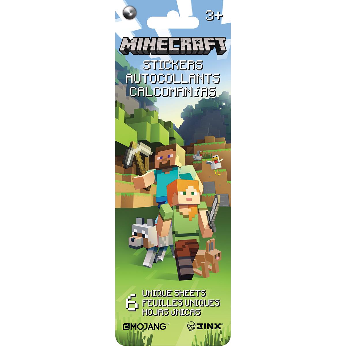 SandyLion Minecraft Flip Pack Stickers 6/Sheet-