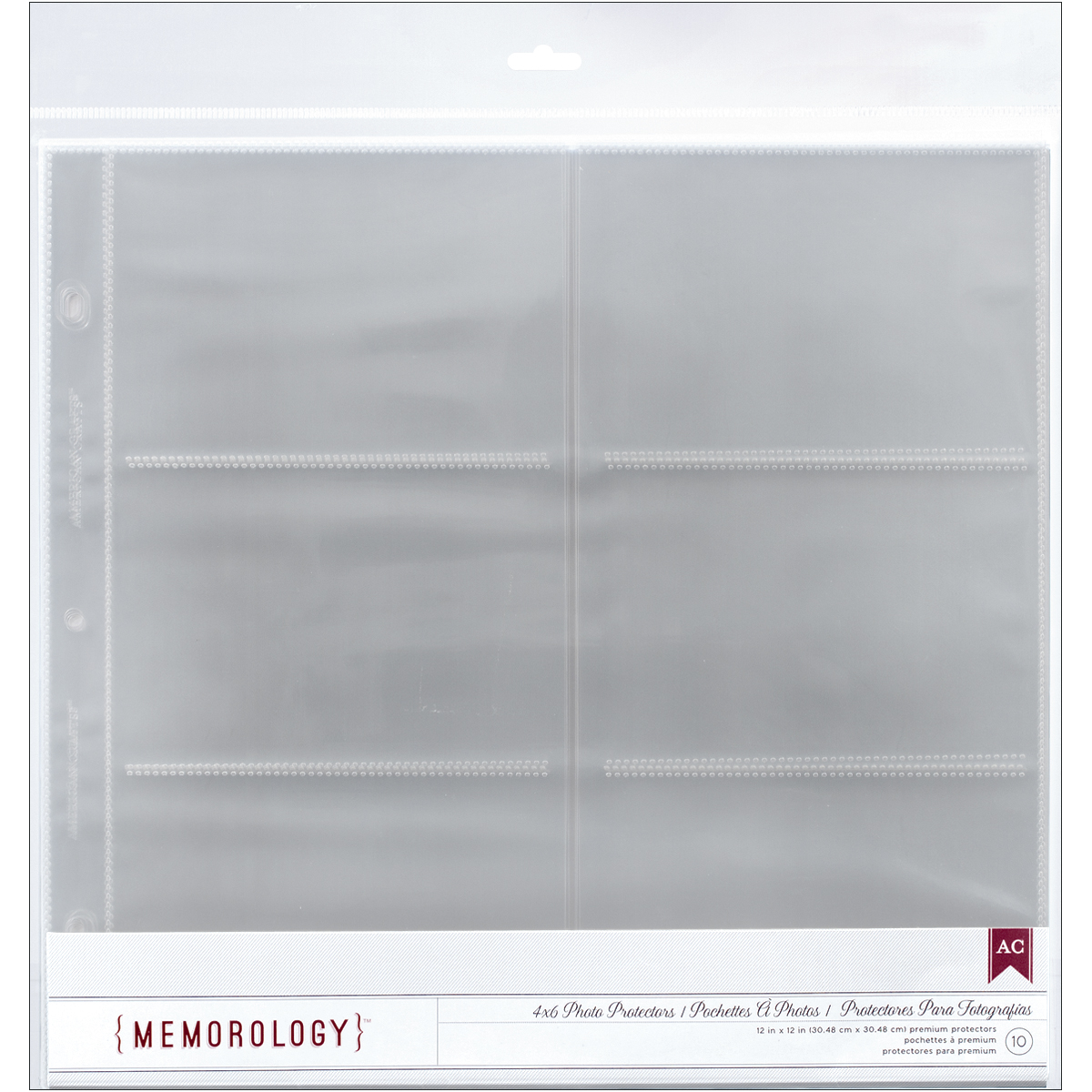 American Crafts Side-Loading 6X4 Pockets Page Protectors 12x12 10/Pkg-(6)