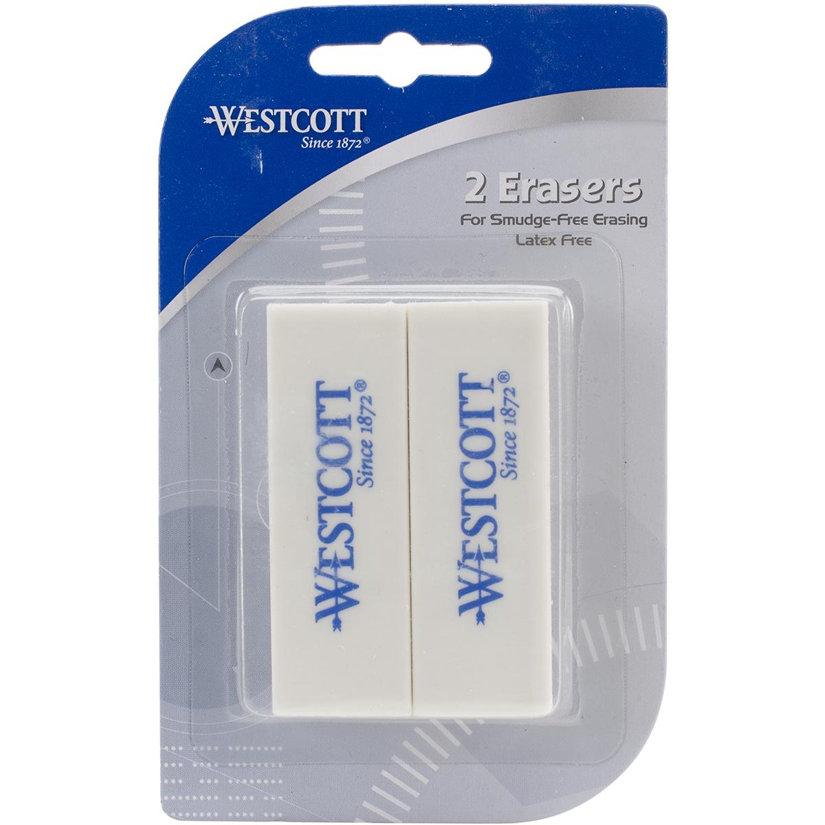 Erasers 2/Pkg-White