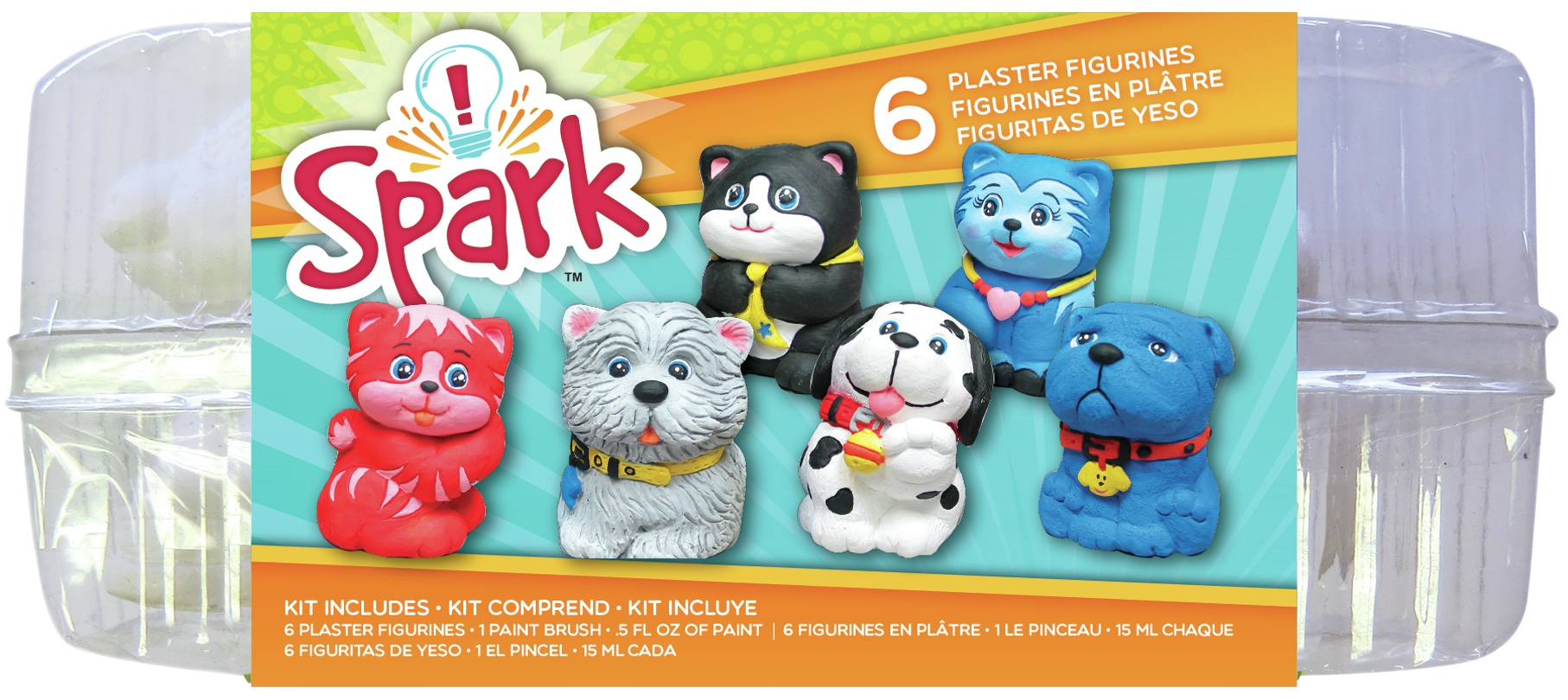 Plaster Playset-Cats & Dogs