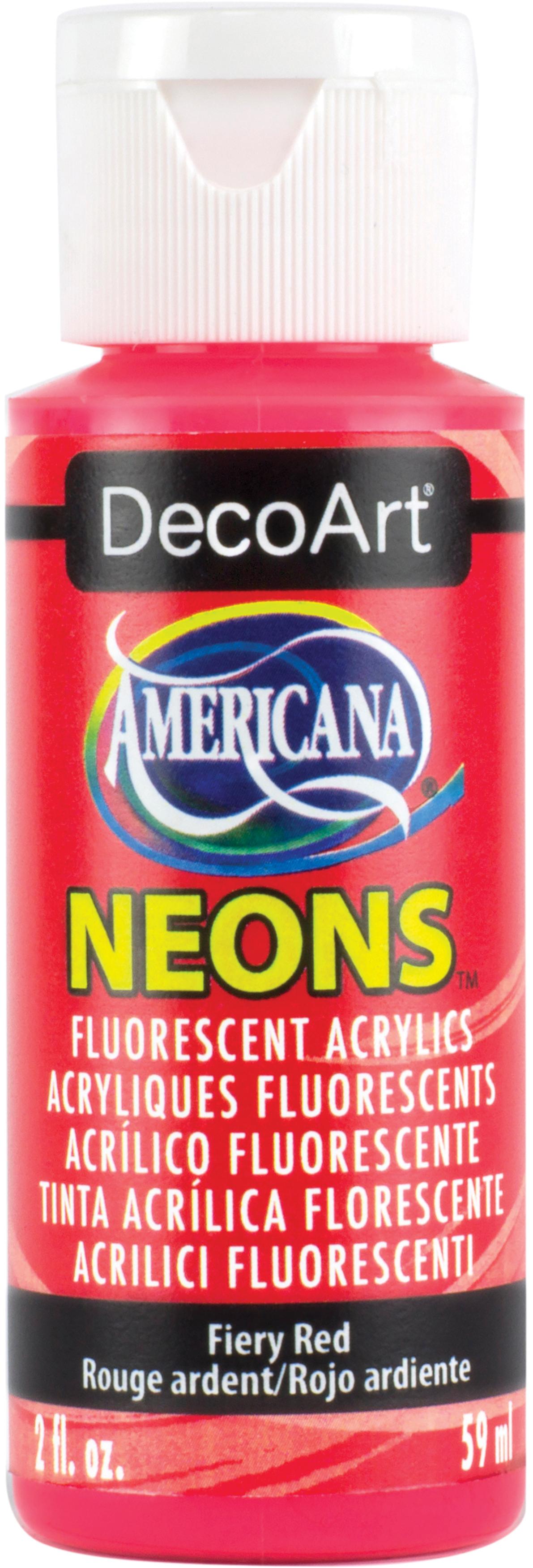 Americana Neons Fluorescent Acrylic Paint 2oz-Scorching Yellow