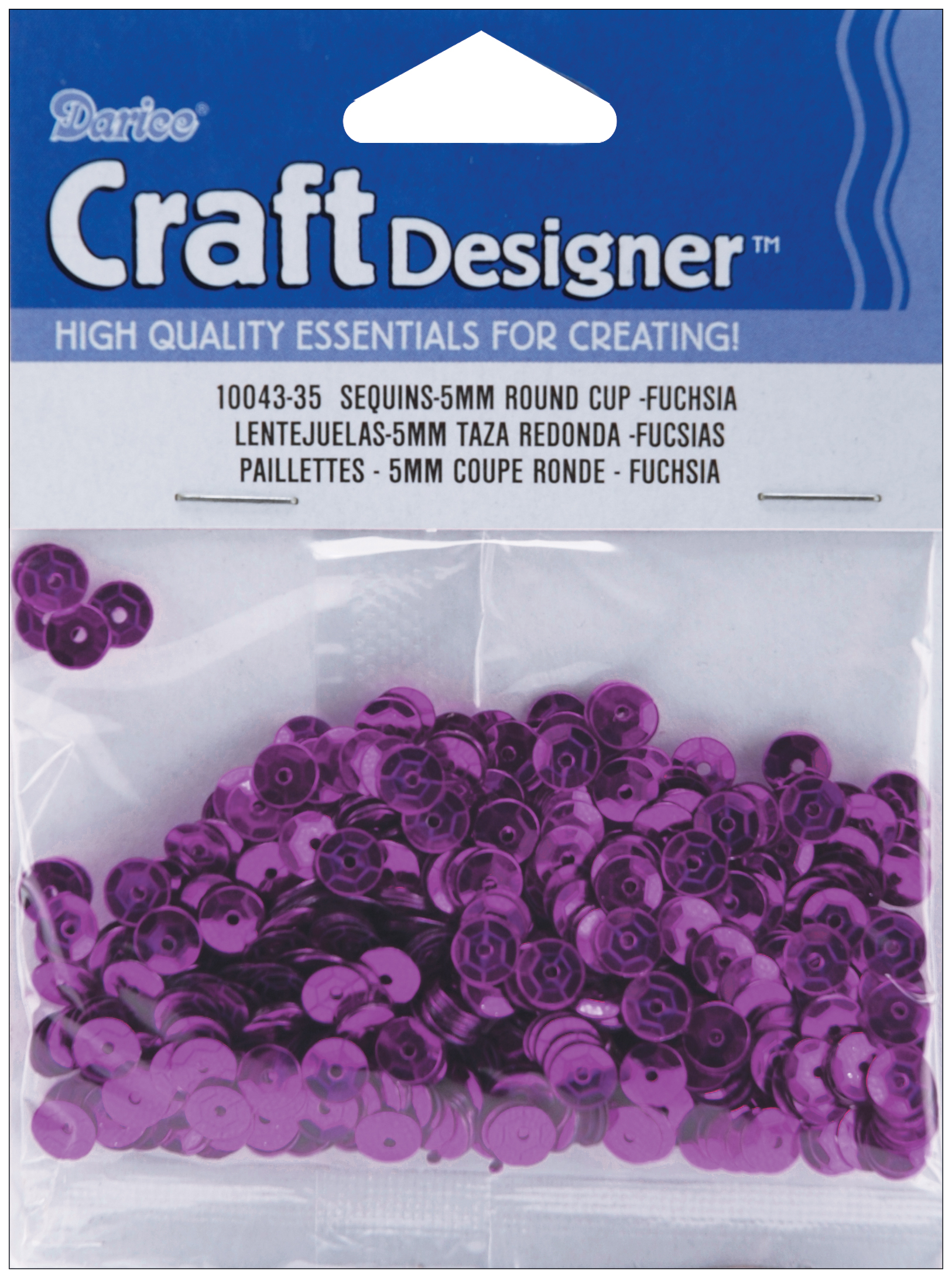 Cupped Sequins 5mm 800/Pkg-Fuchsia