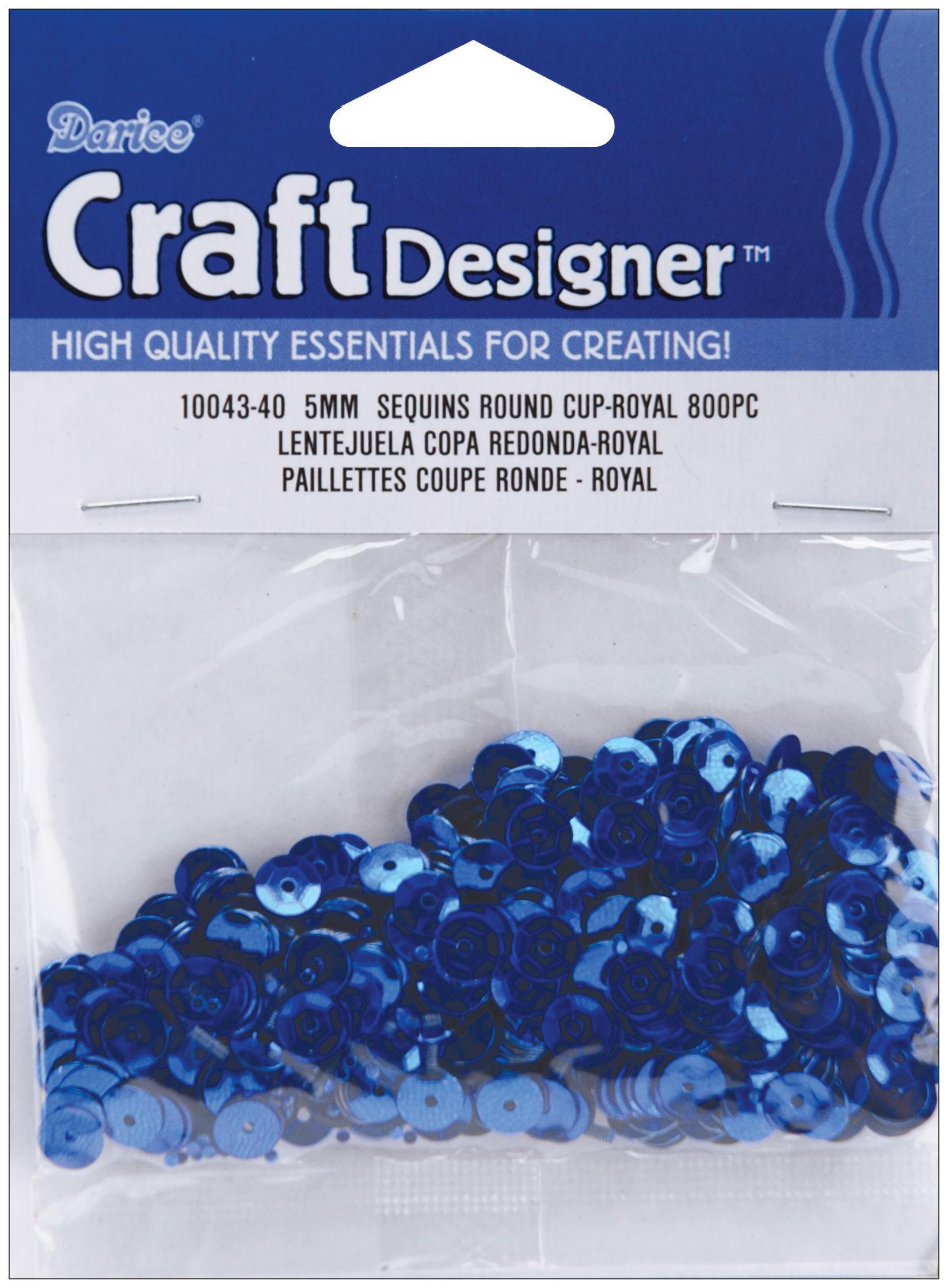 Cupped Sequins 5mm 800/Pkg-Royal Blue